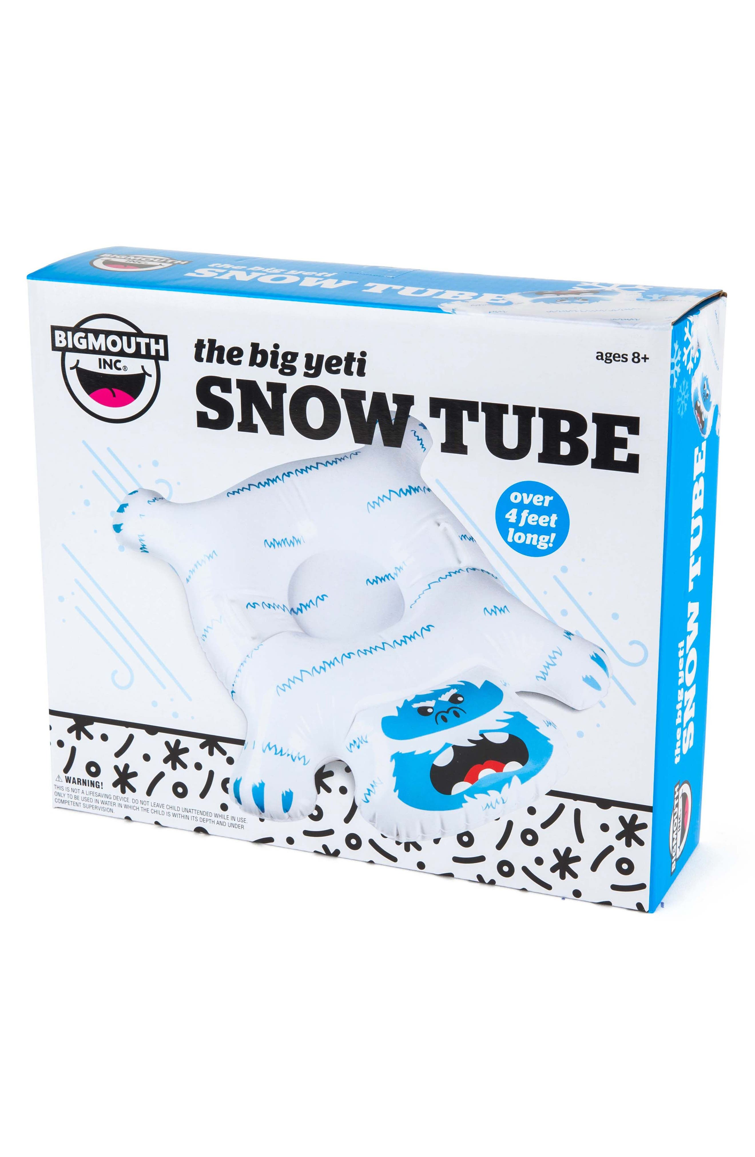 Big Yeti Inflatable Snow Tube, Main, color, 100