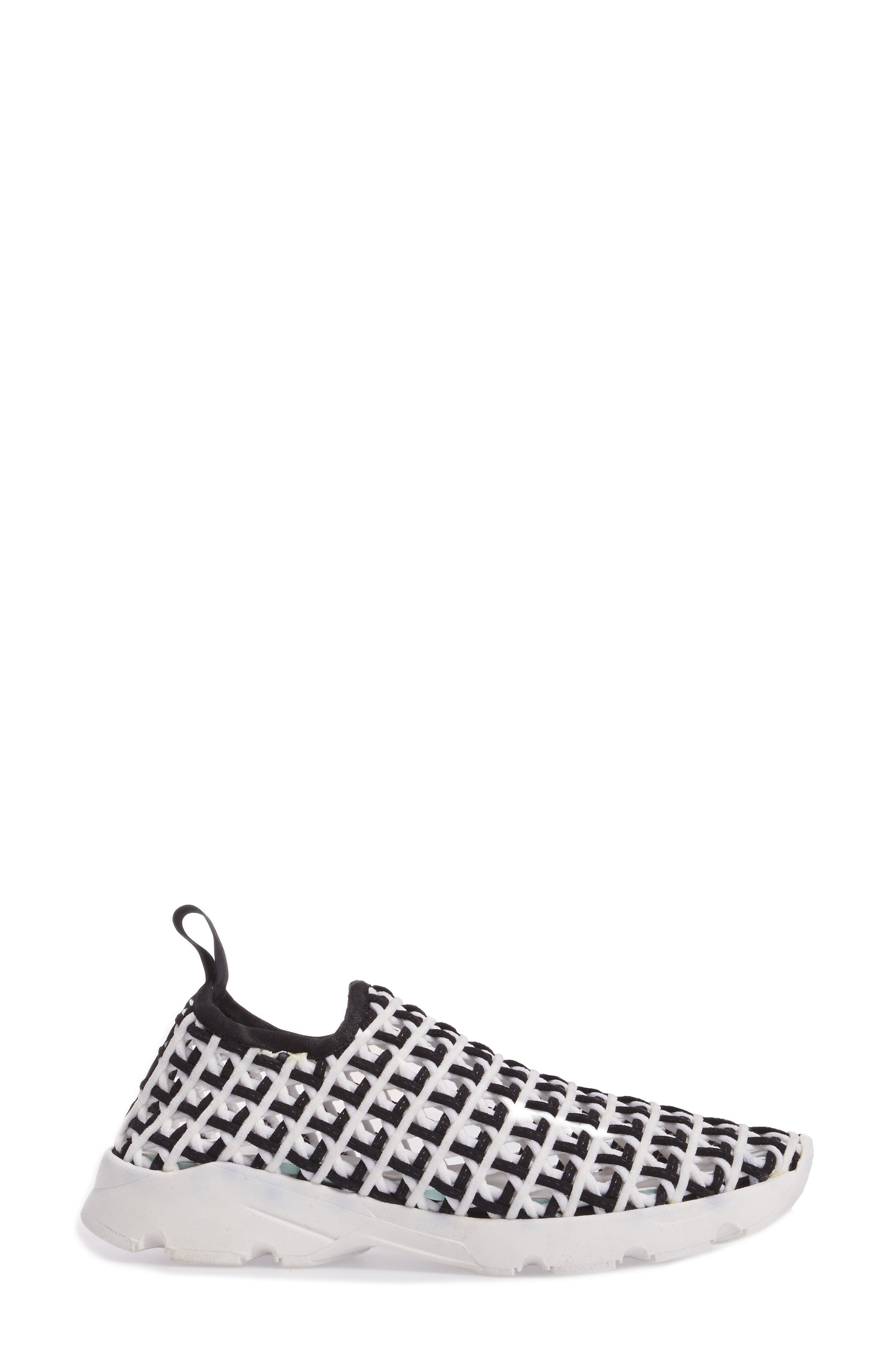 Willow Open Knit Sneaker,                             Alternate thumbnail 3, color,                             001