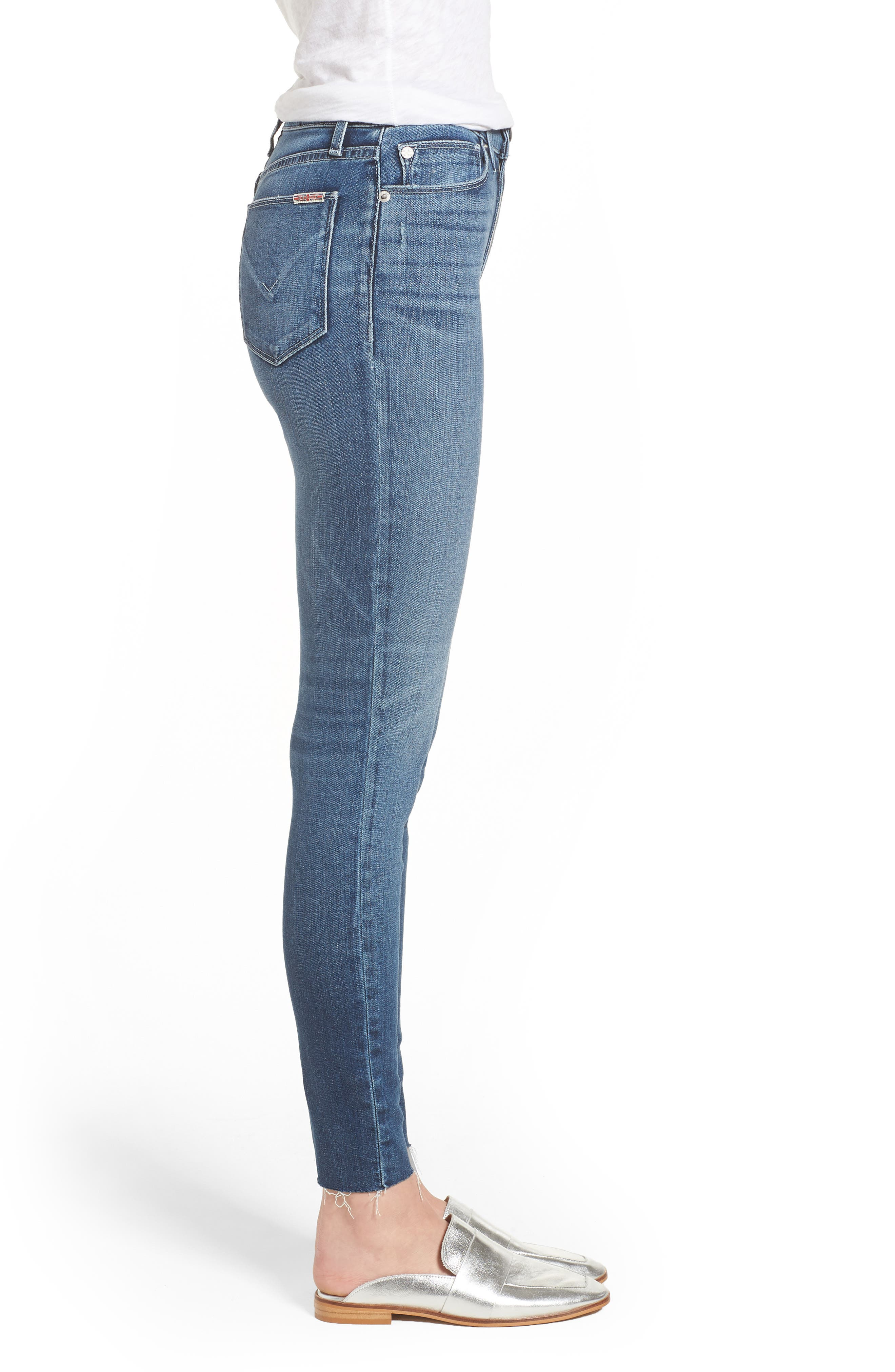 Hudson Barbara High Waist Ankle Skinny Jeans,                             Alternate thumbnail 3, color,                             CONTENDER