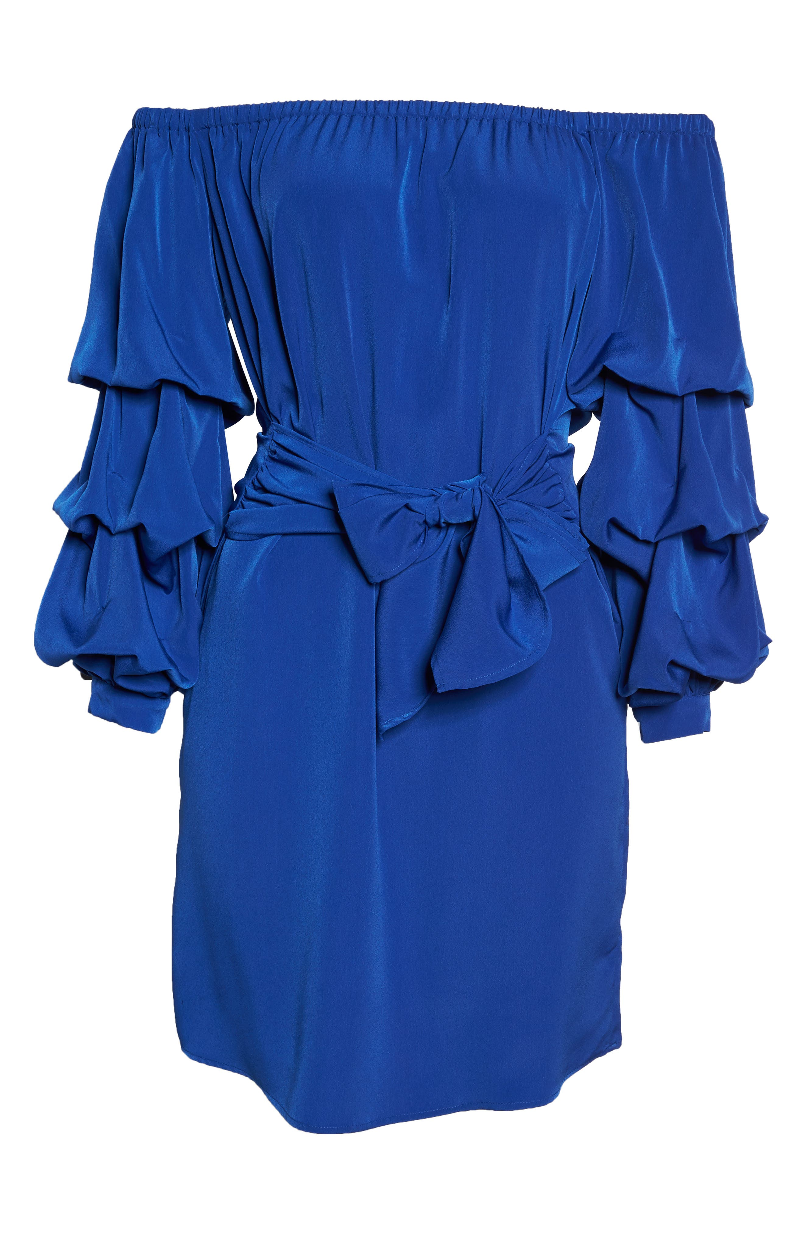 Off the Shoulder Tiered Sleeve Dress,                             Alternate thumbnail 20, color,