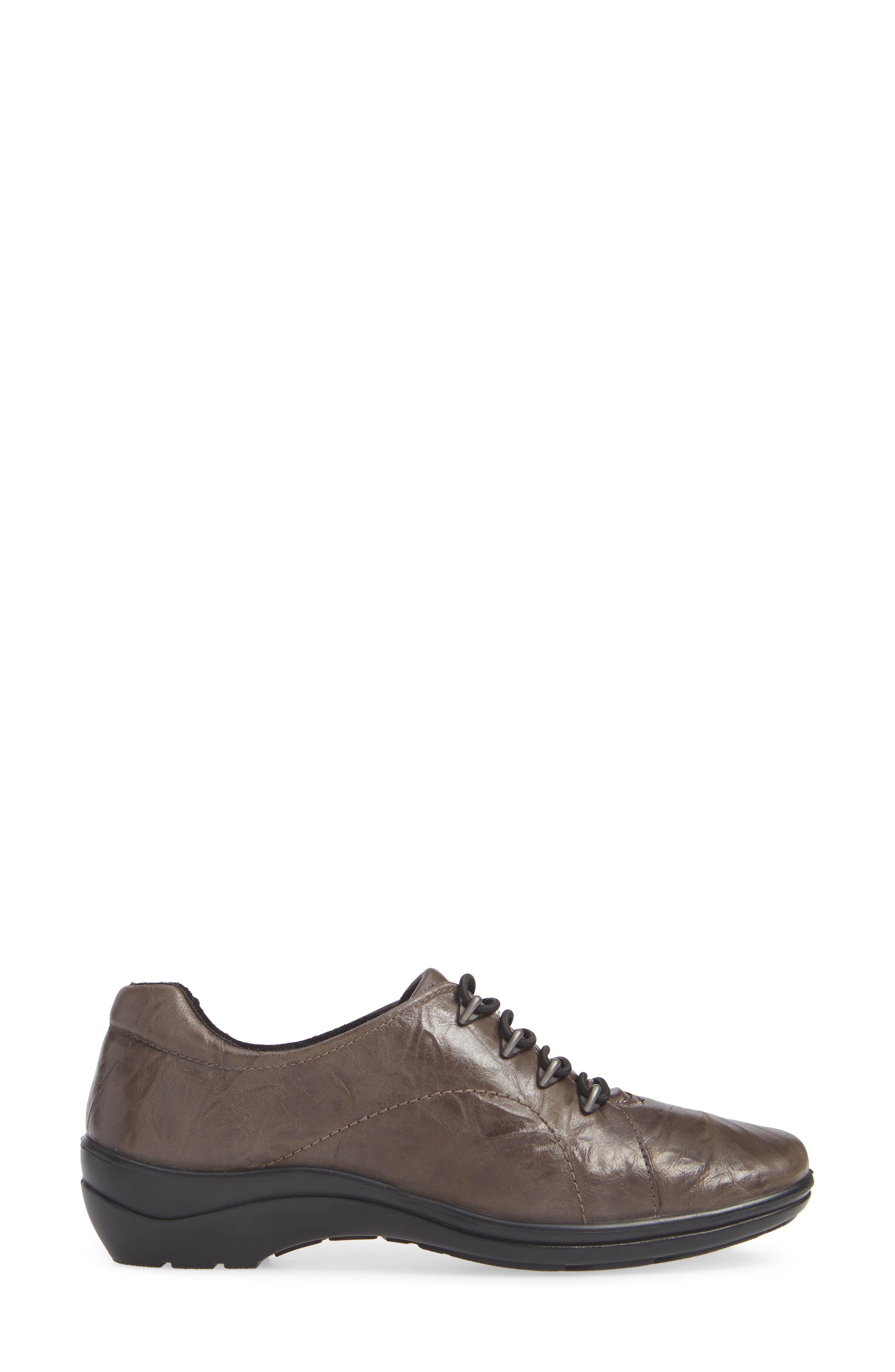 Cassie 42 Sneaker,                             Alternate thumbnail 3, color,                             GRAPHITE LEATHER
