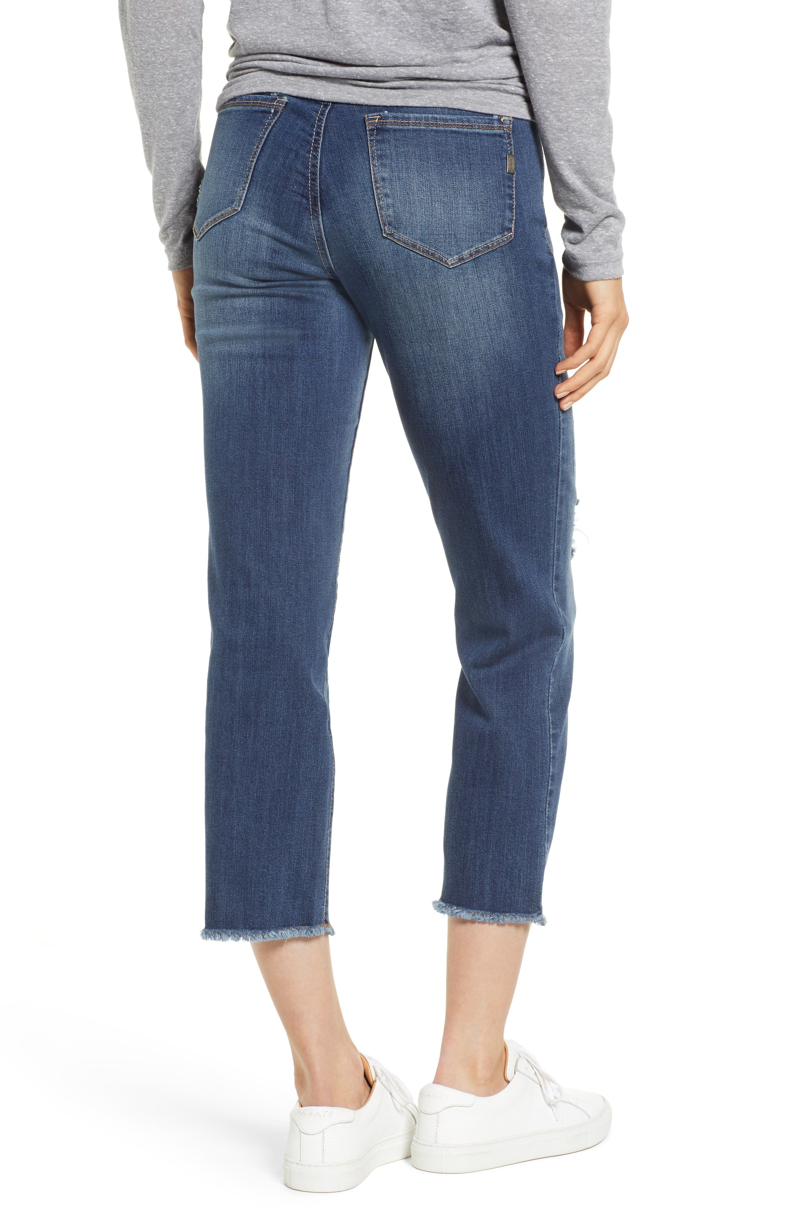 Cassie Crop Straight Leg Maternity Jeans,                             Alternate thumbnail 2, color,                             CASSIE