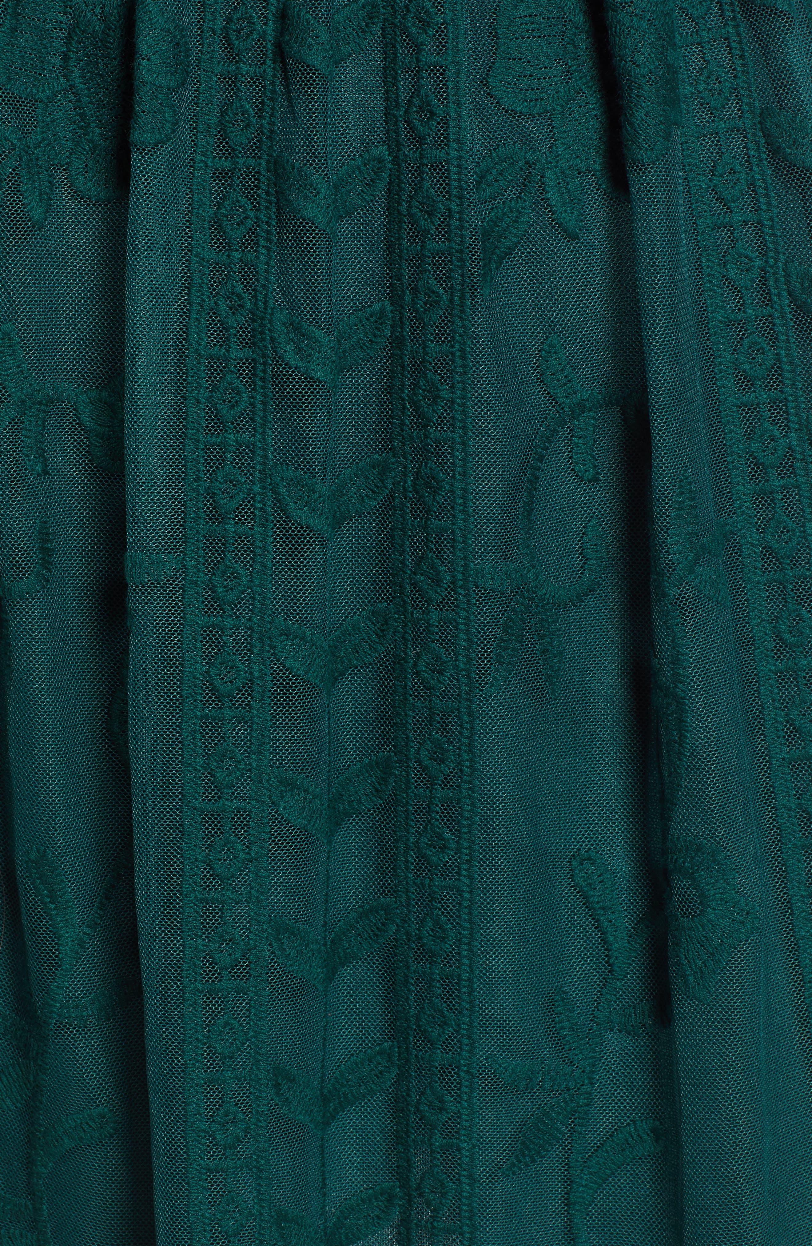 SOCIALITE,                             Long Sleeve V-Neck Lace Dress,                             Alternate thumbnail 6, color,                             300