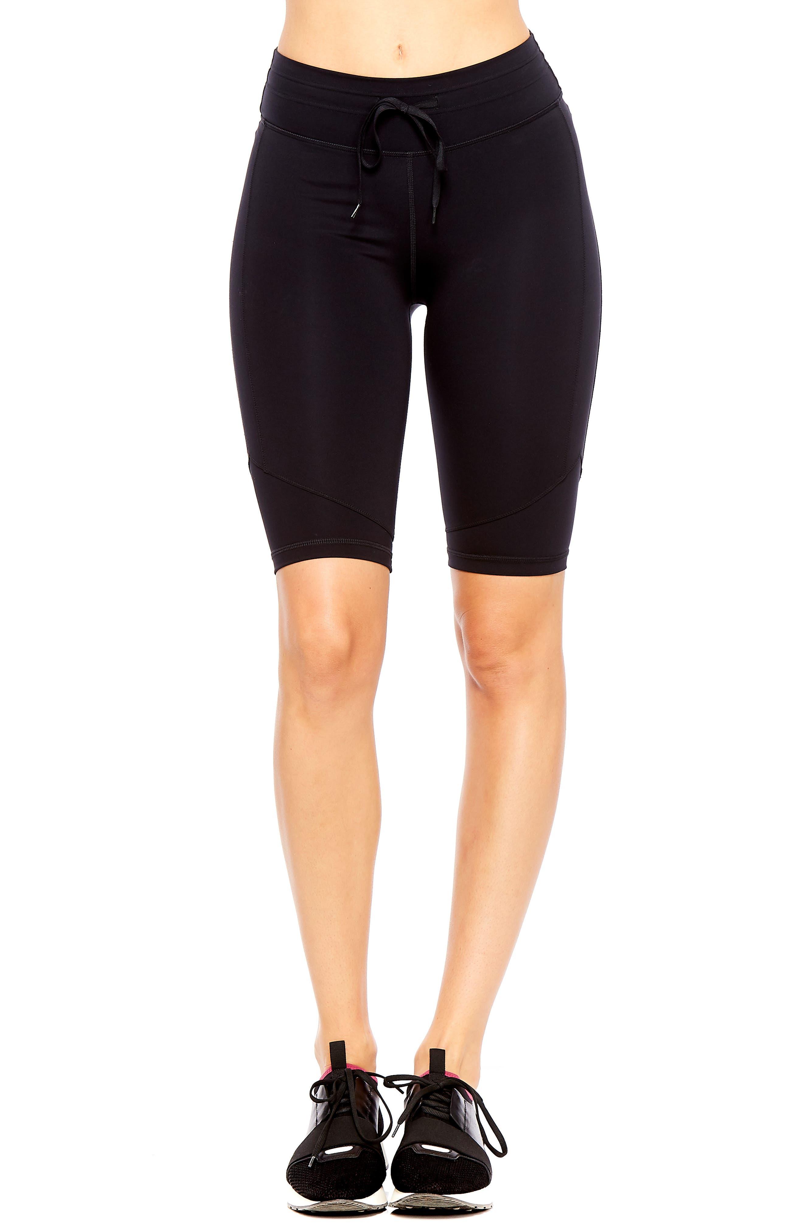 Matte Spin Biker Shorts,                             Main thumbnail 1, color,                             BLACK
