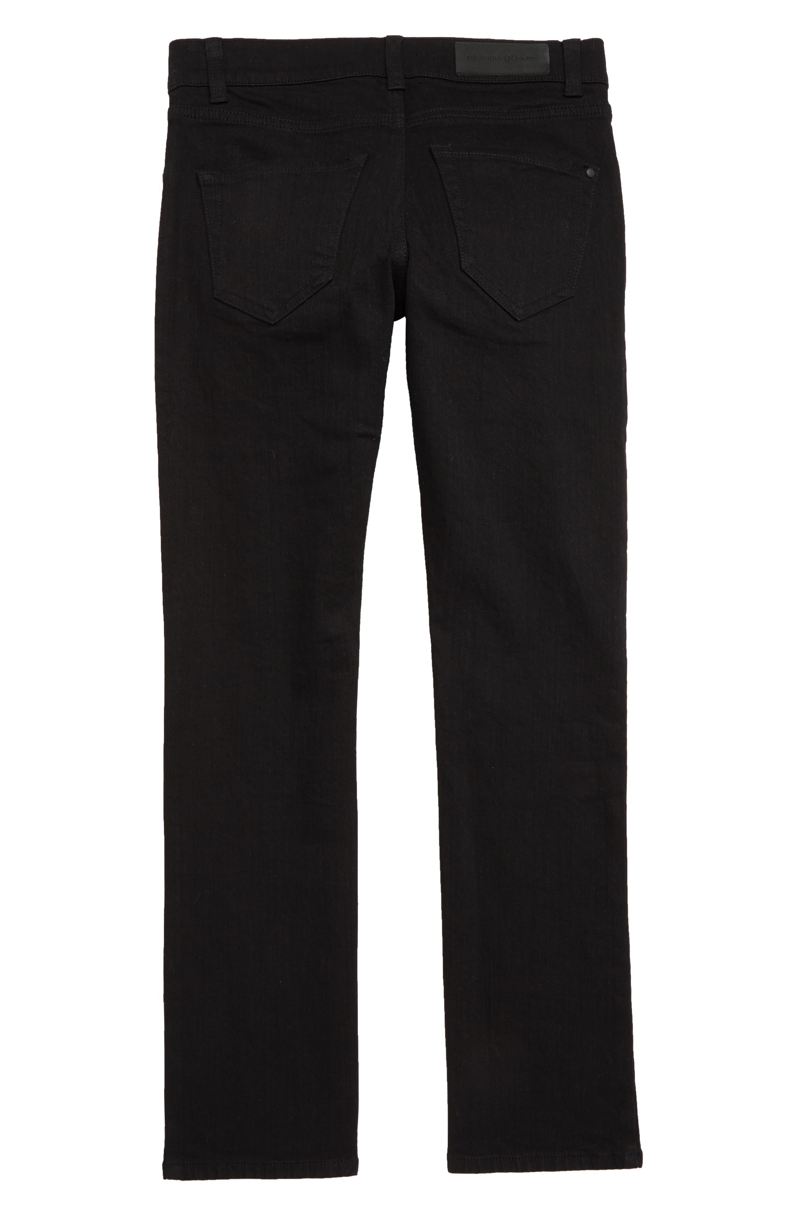 Skinny Jeans,                             Alternate thumbnail 2, color,                             EASY BLACK WASH
