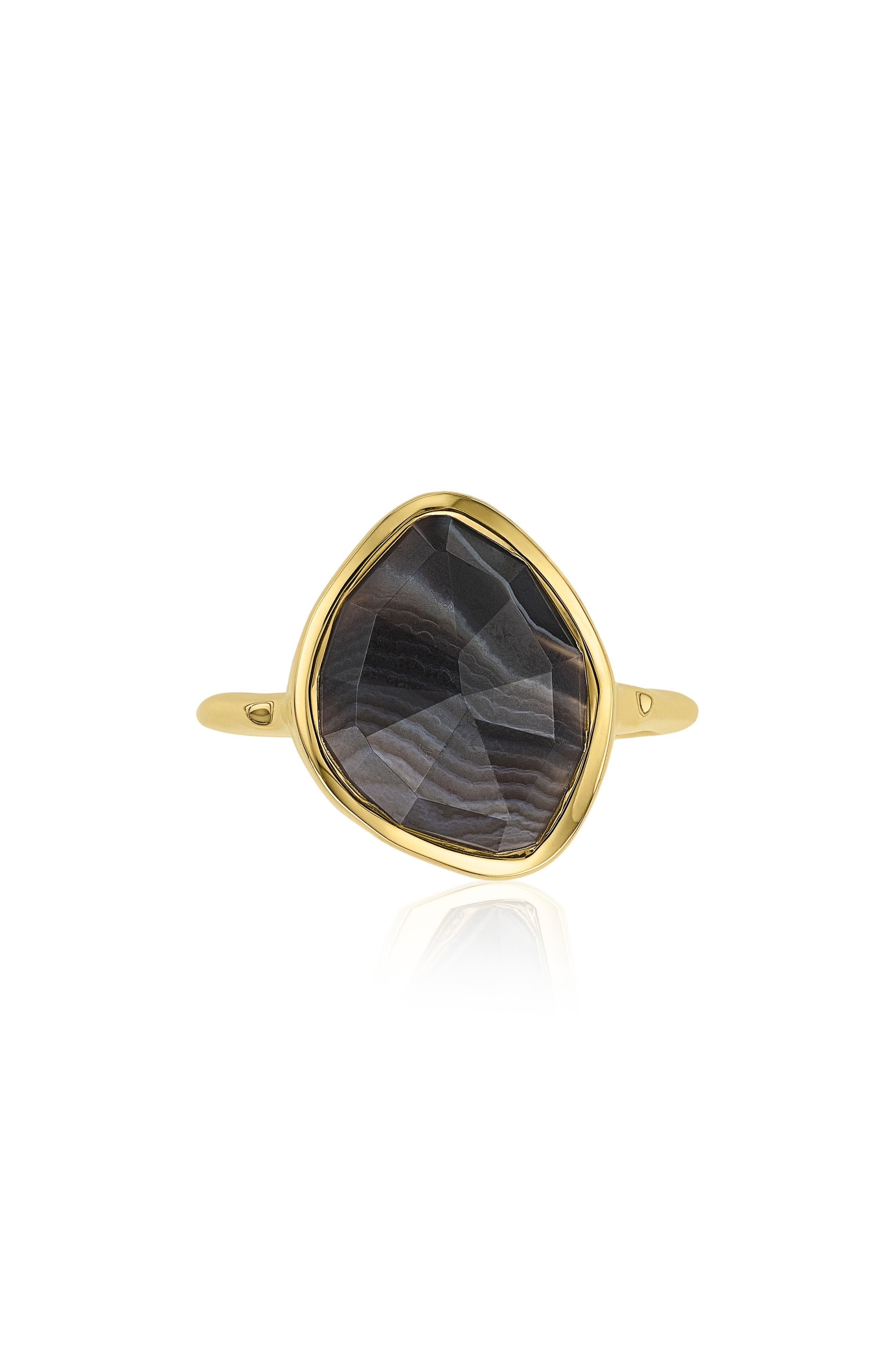 MONICA VINADER Siren Nugget Semiprecious Stacking Ring, Main, color, 001