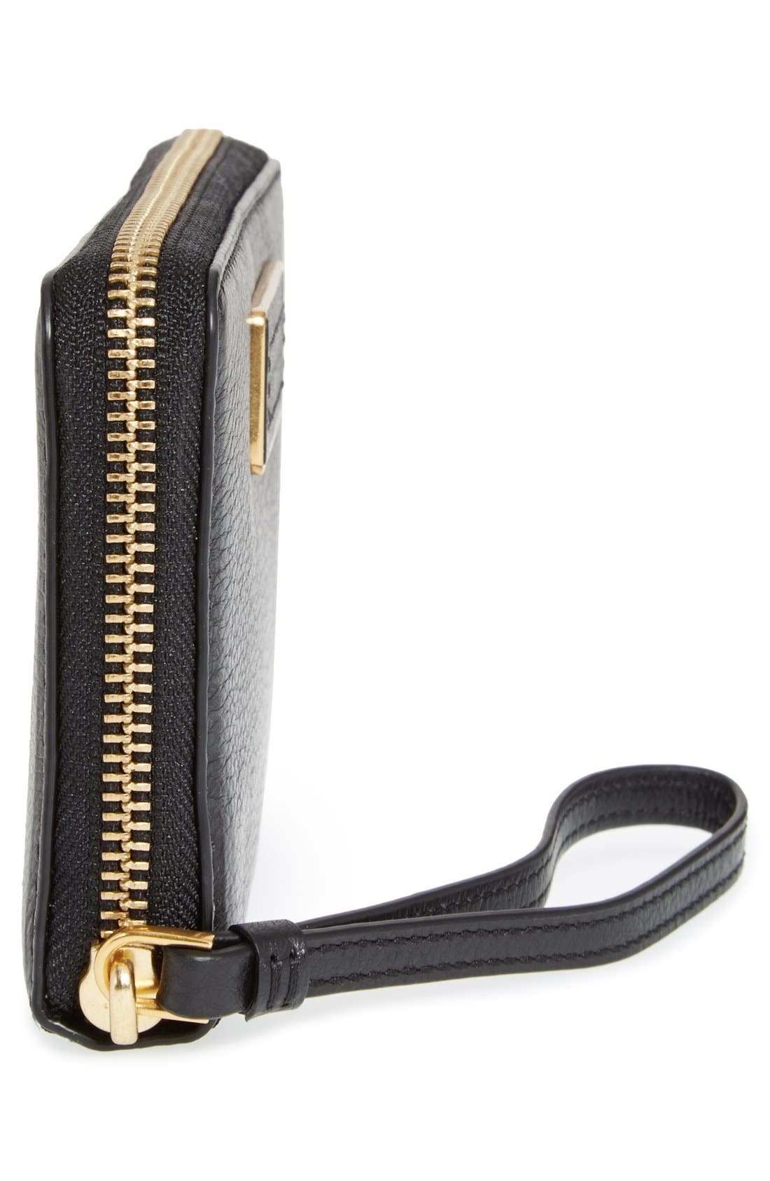 MARC JACOBS,                             MARC BY MARC JACOBS 'Too Hot To Handle - Wingman' Wallet Wristlet,                             Alternate thumbnail 2, color,                             001