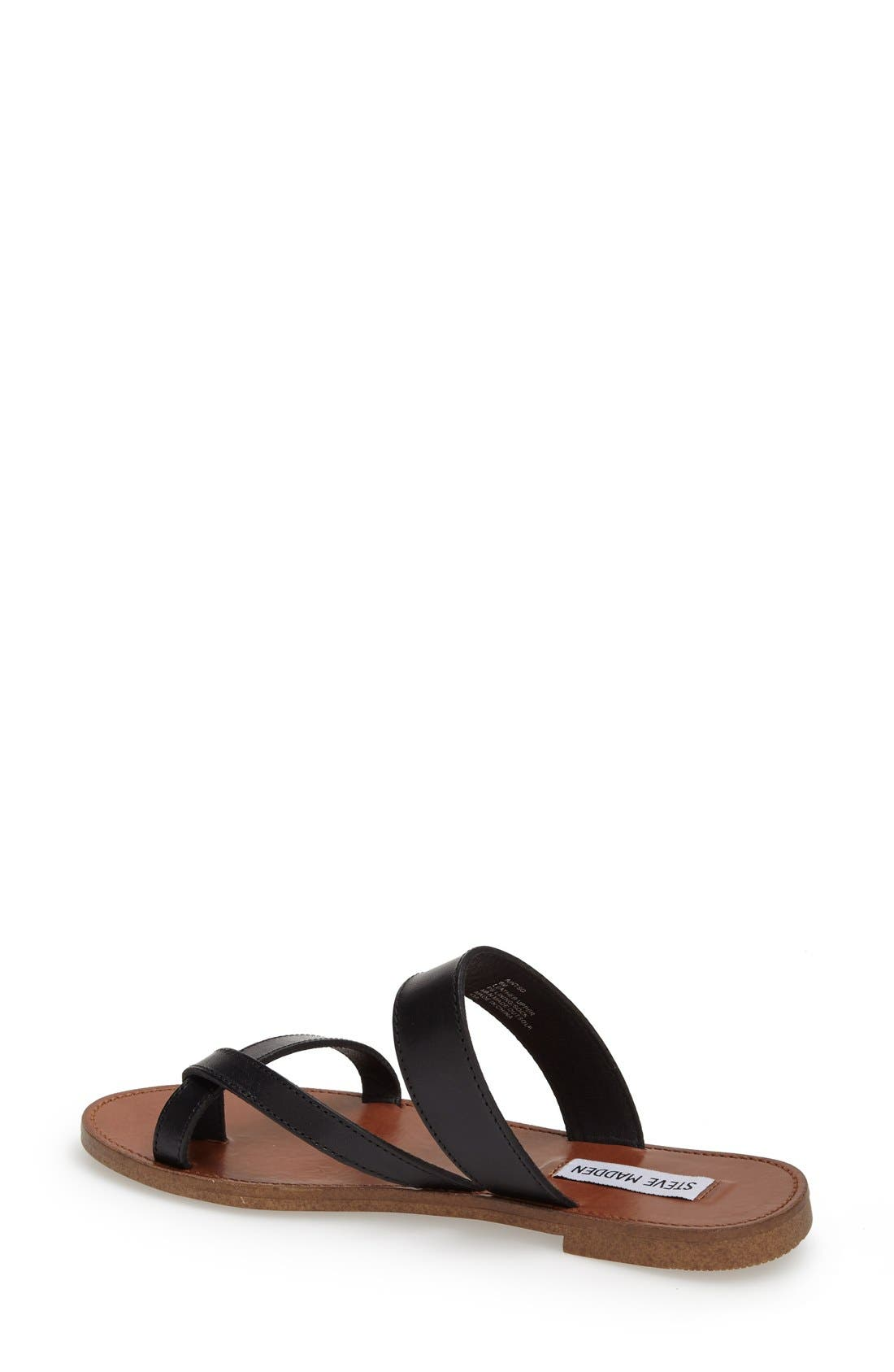 'Aintso' Strappy Leather Toe Ring Sandal,                             Alternate thumbnail 2, color,                             001