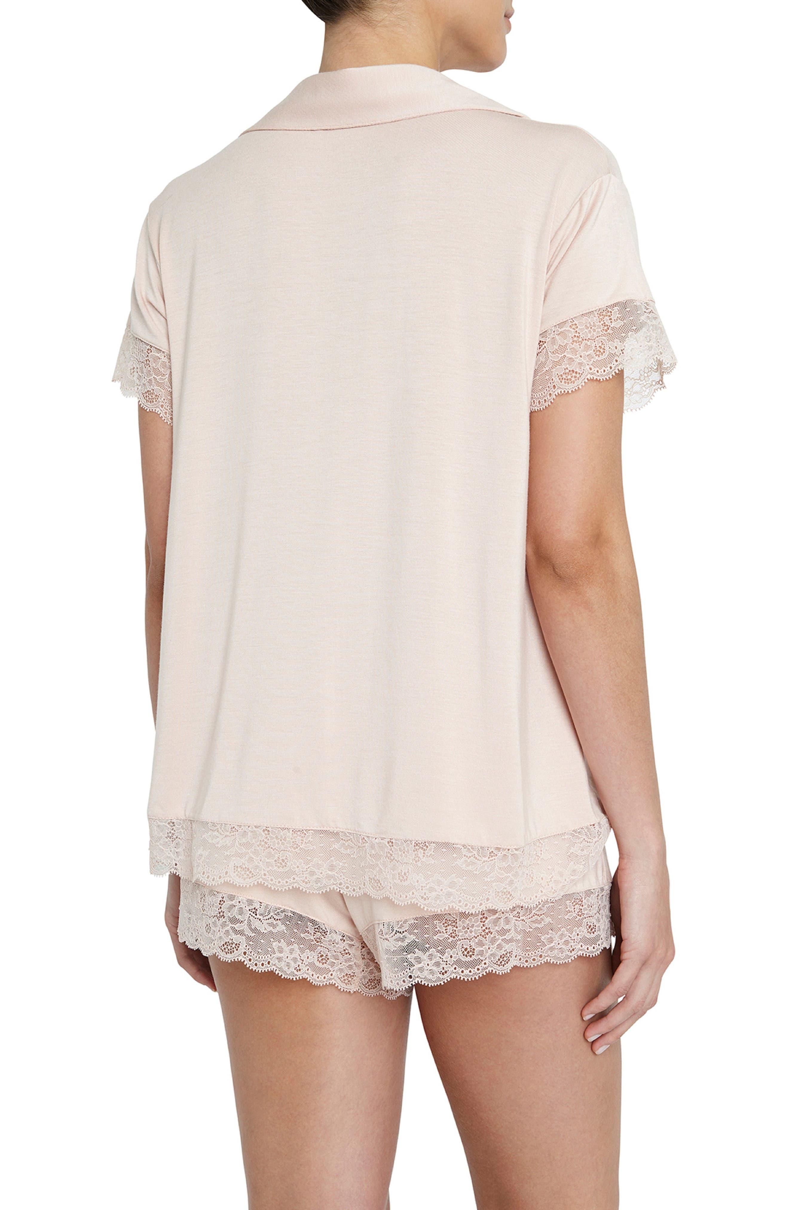 Malou the Lace Short Pajamas,                             Alternate thumbnail 2, color,                             652