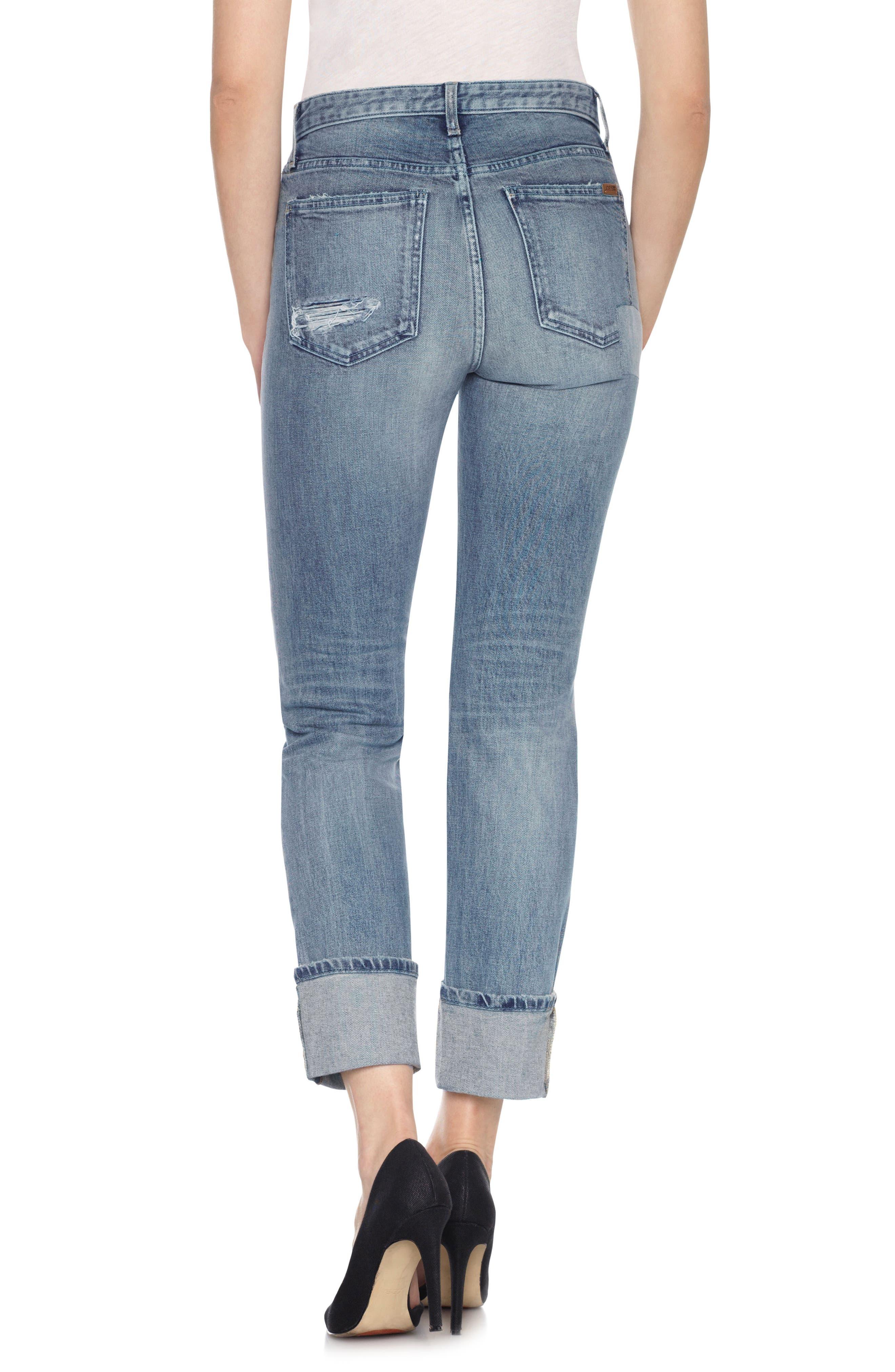 Taylor Hill x Joe's Debbie Cuff Straight Leg Jeans,                             Alternate thumbnail 2, color,                             430