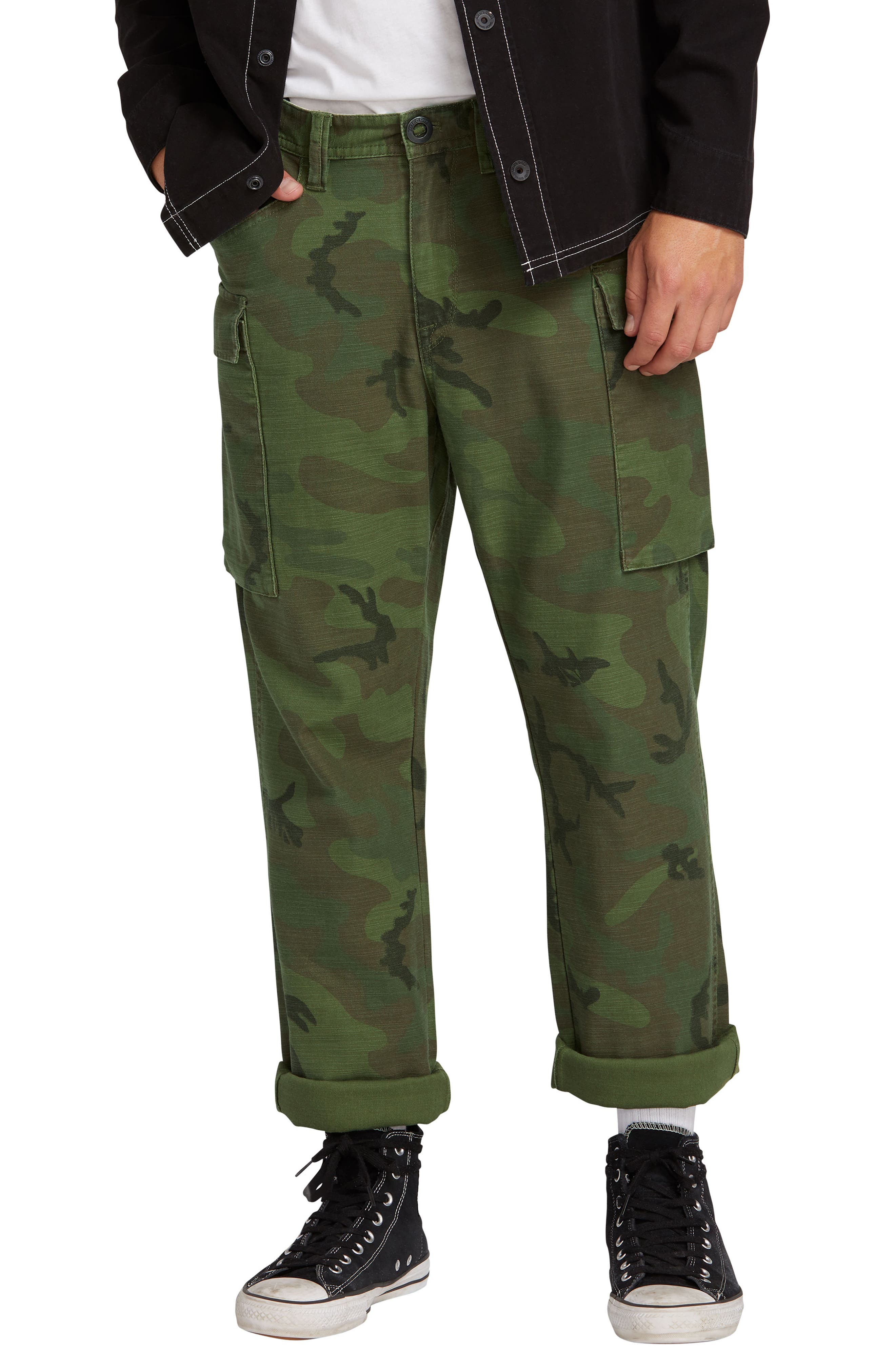 Gritter Cargo Pants,                             Main thumbnail 1, color,                             CAMOUFLAGE