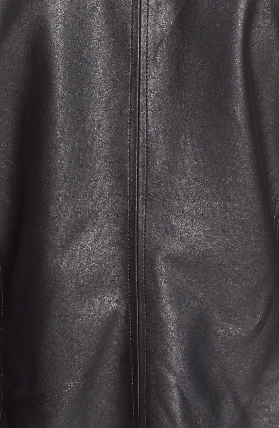 'Helena' Faux Leather Jacket,                             Alternate thumbnail 4, color,                             001