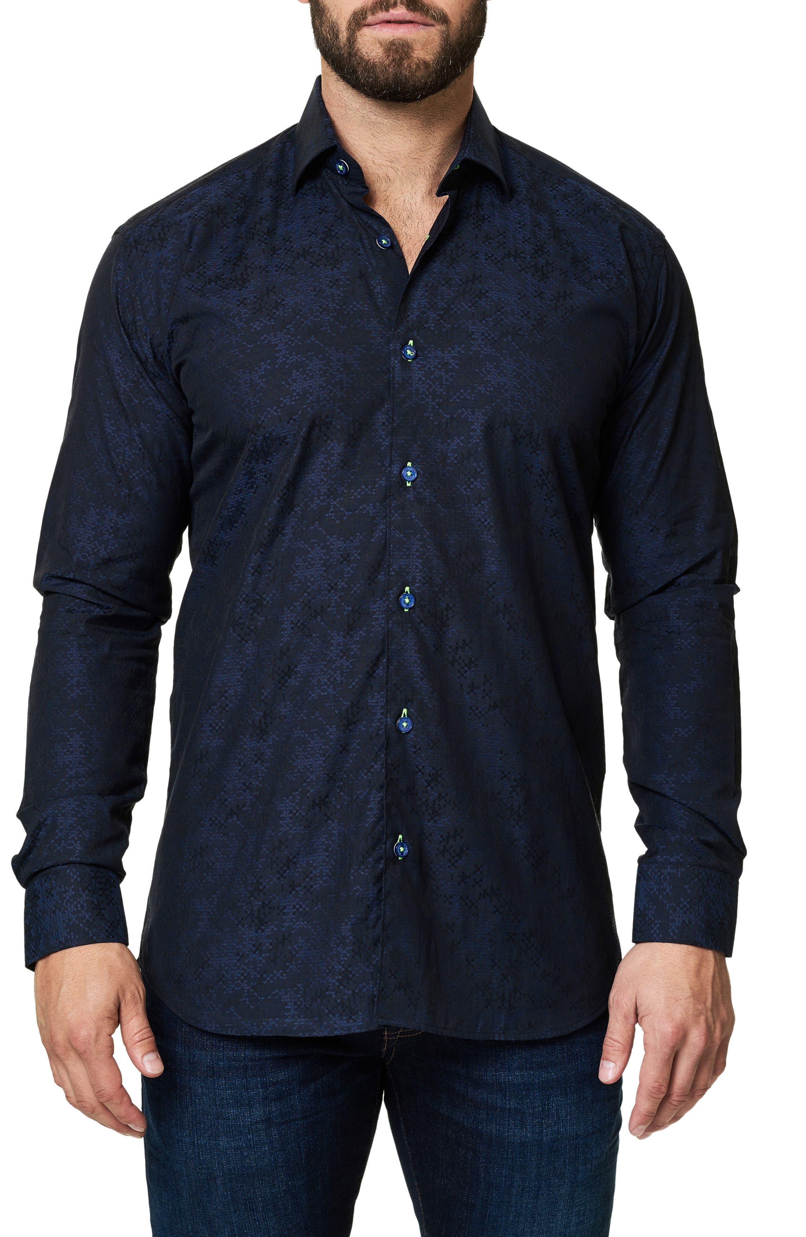 Trim Fit Print Sport Shirt,                         Main,                         color, 410