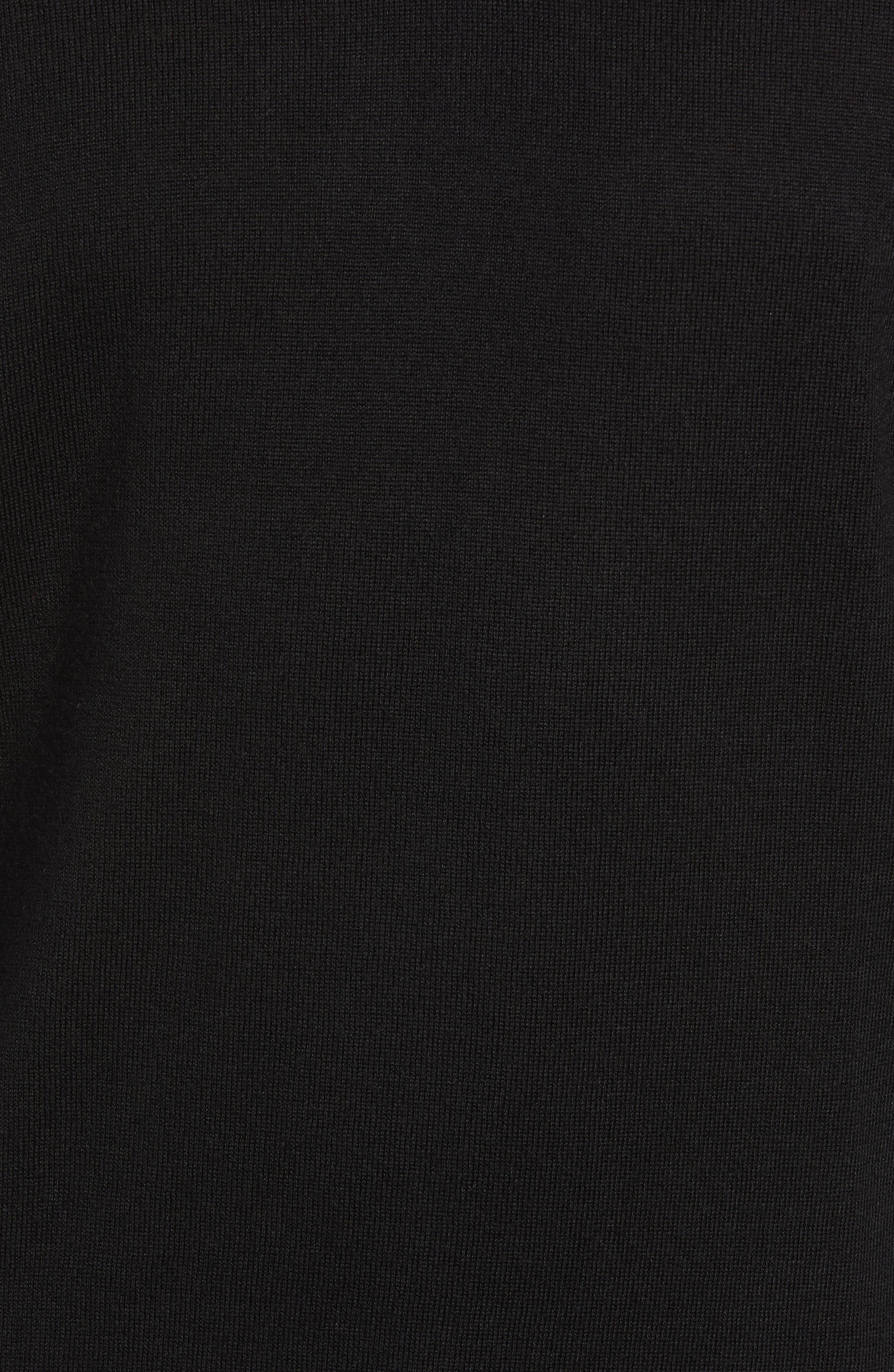 Wool & Silk V-Neck Sweater,                             Alternate thumbnail 5, color,                             001