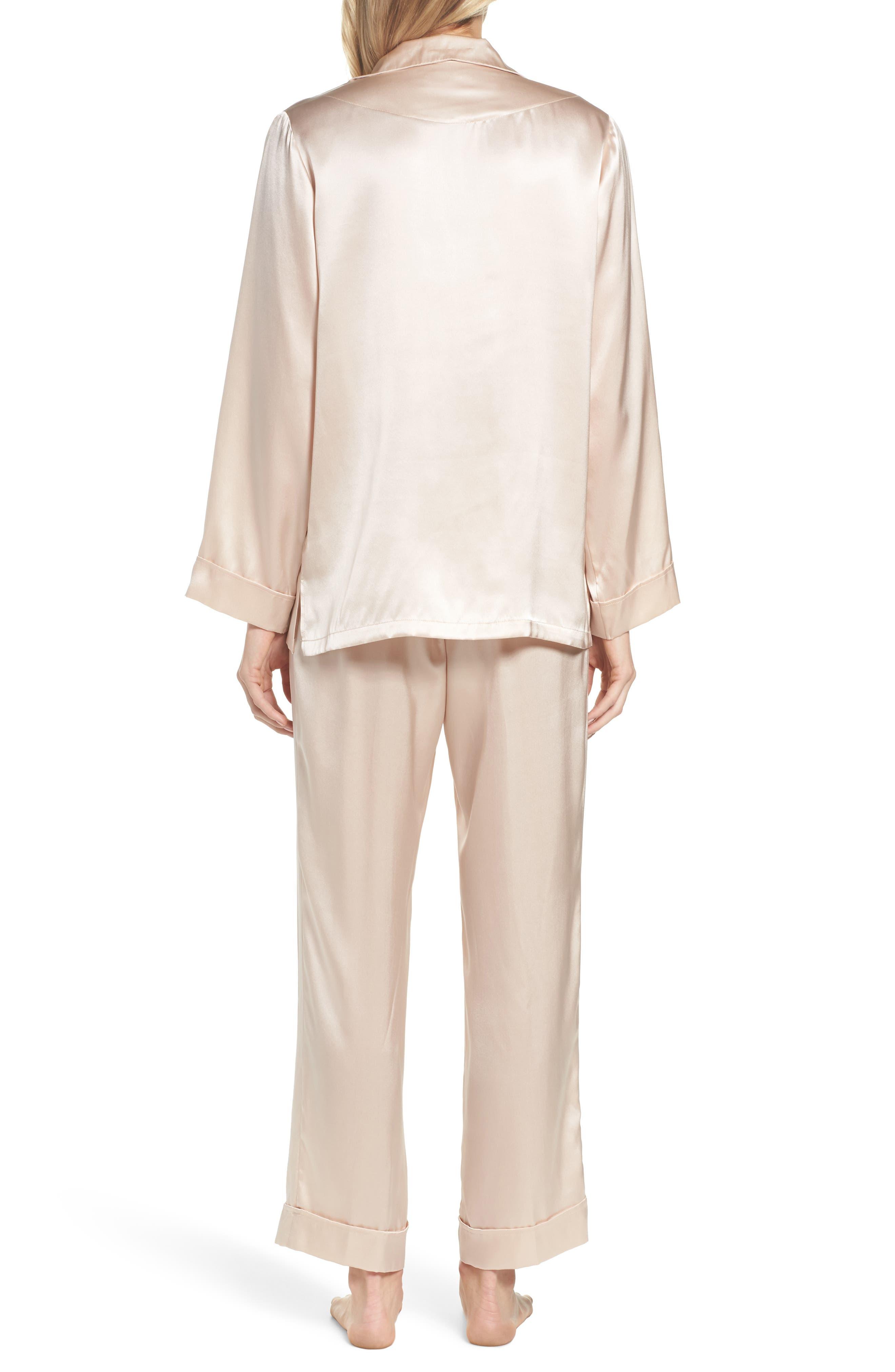 Silk Pajamas,                             Alternate thumbnail 2, color,                             ROMANCE