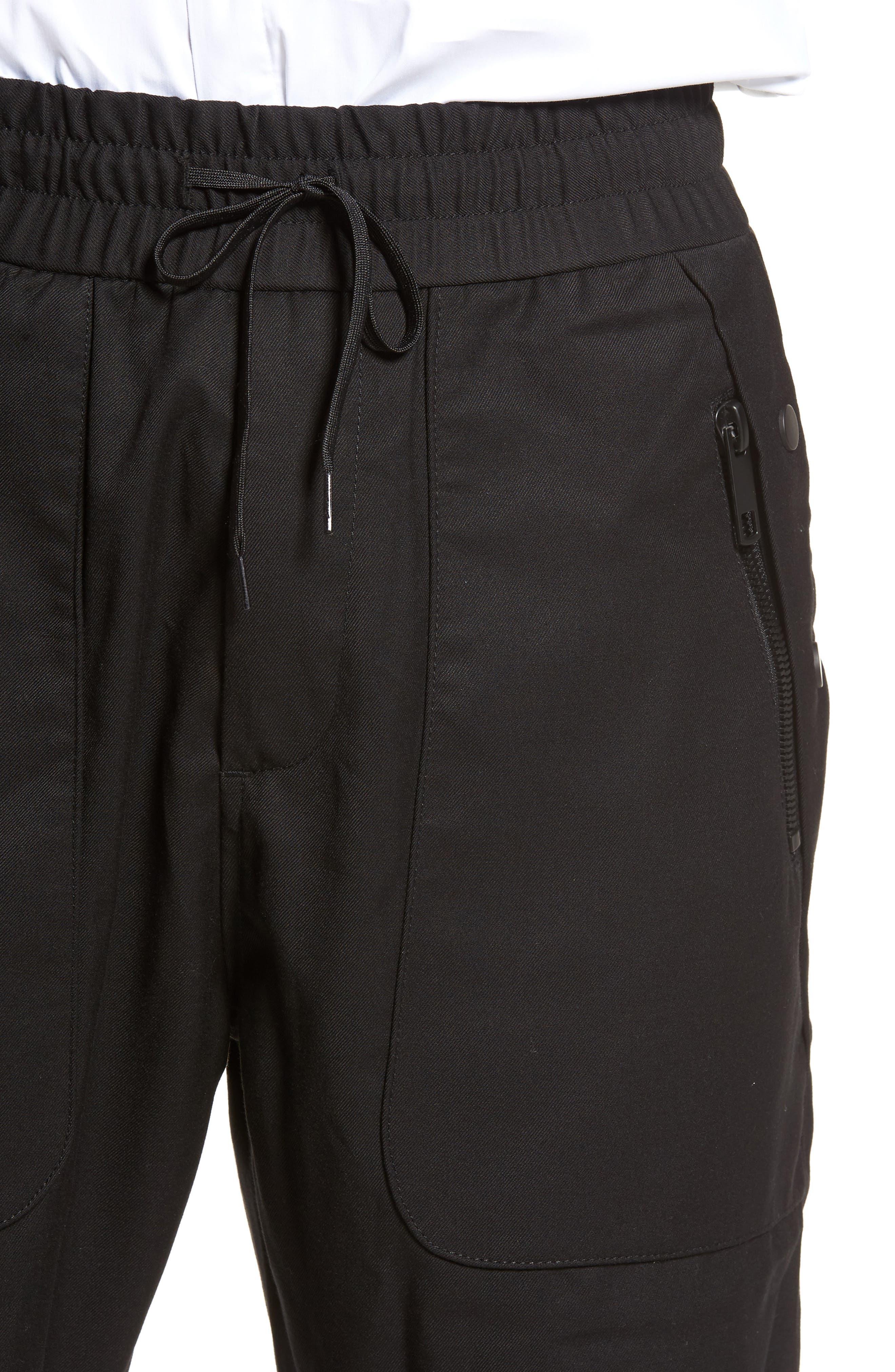 Drawstring Zip Pocket Pants,                             Alternate thumbnail 4, color,                             001