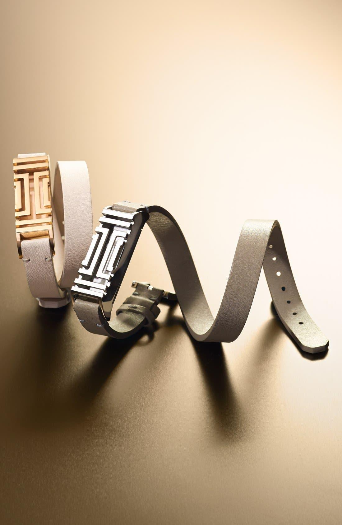 for Fitbit<sup>®</sup> Leather Wrap Bracelet,                             Alternate thumbnail 2, color,                             001