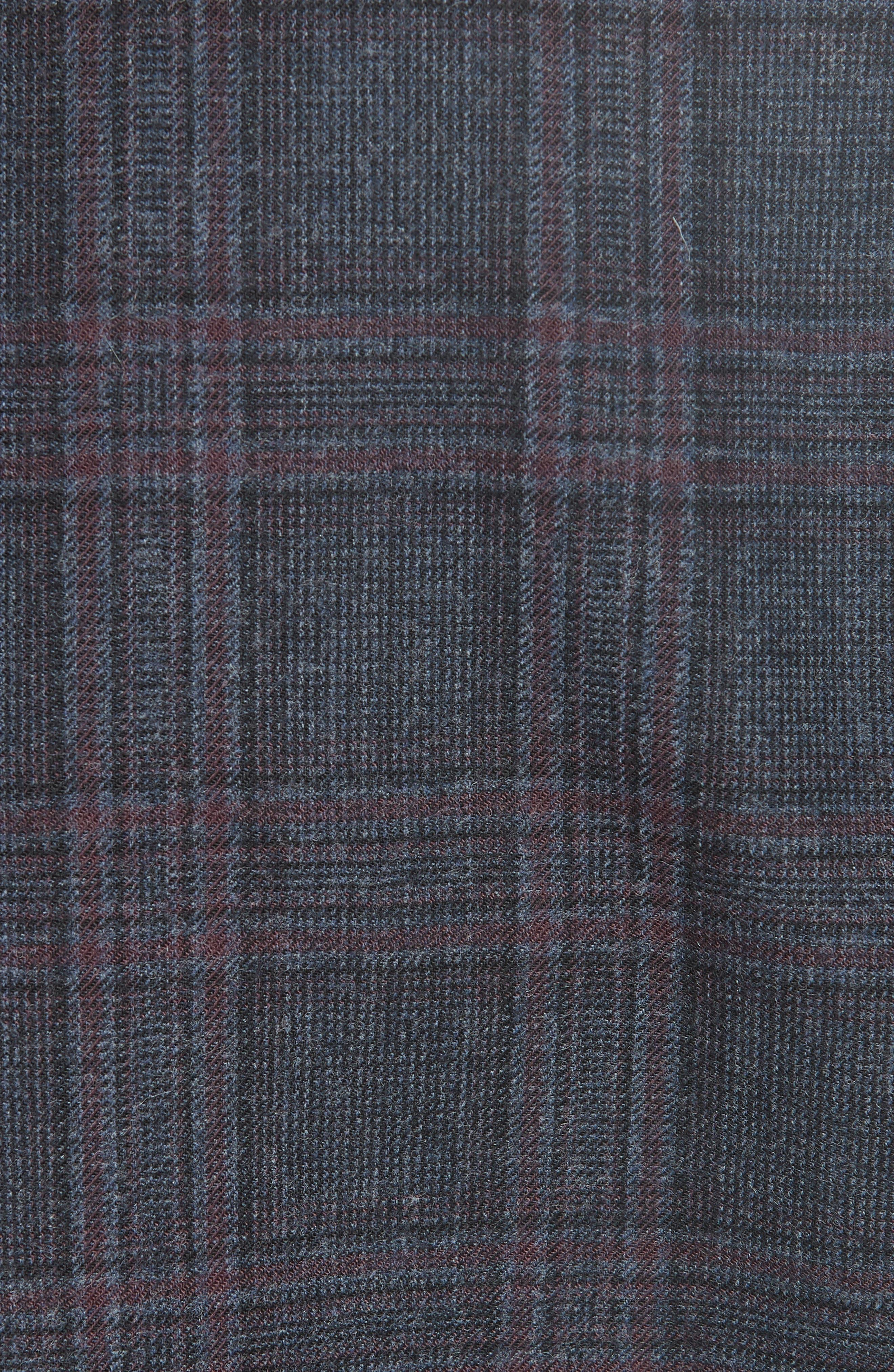 Oscar Plaid Jacket,                             Alternate thumbnail 6, color,                             BLUE
