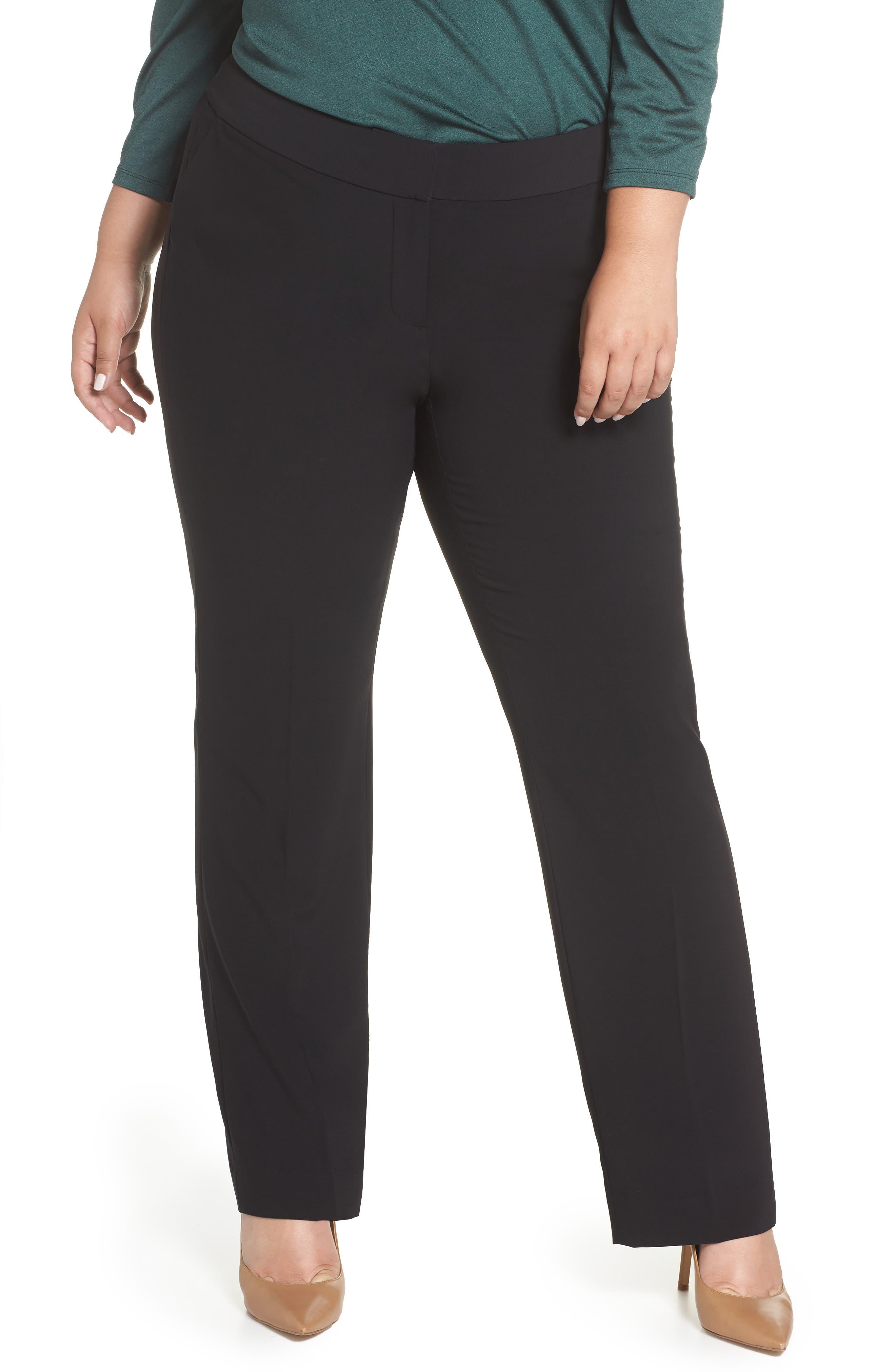 Peyton Bootcut Pants,                         Main,                         color, BLACK