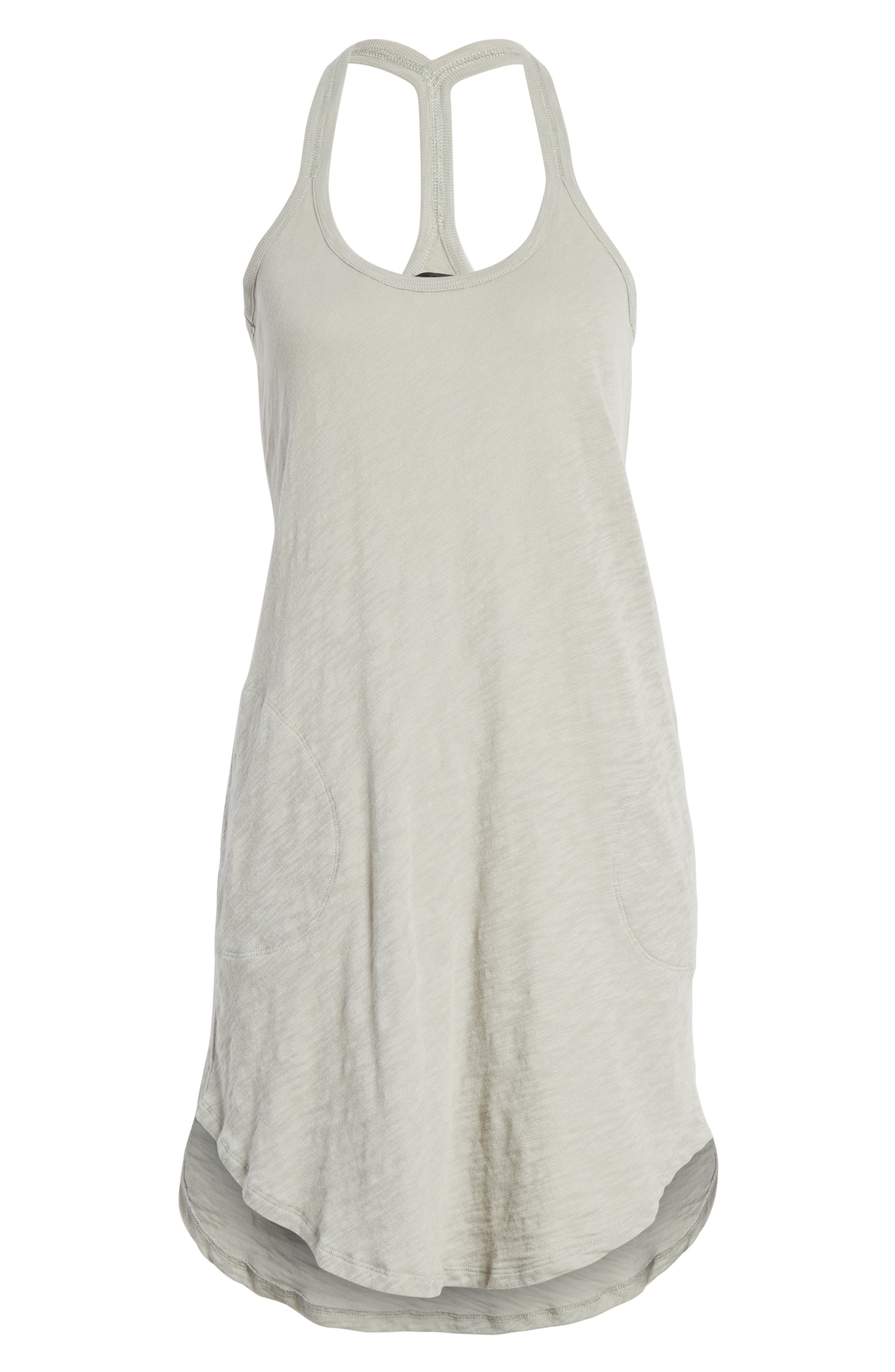 Cotton Trapeze Tank Dress,                             Alternate thumbnail 16, color,