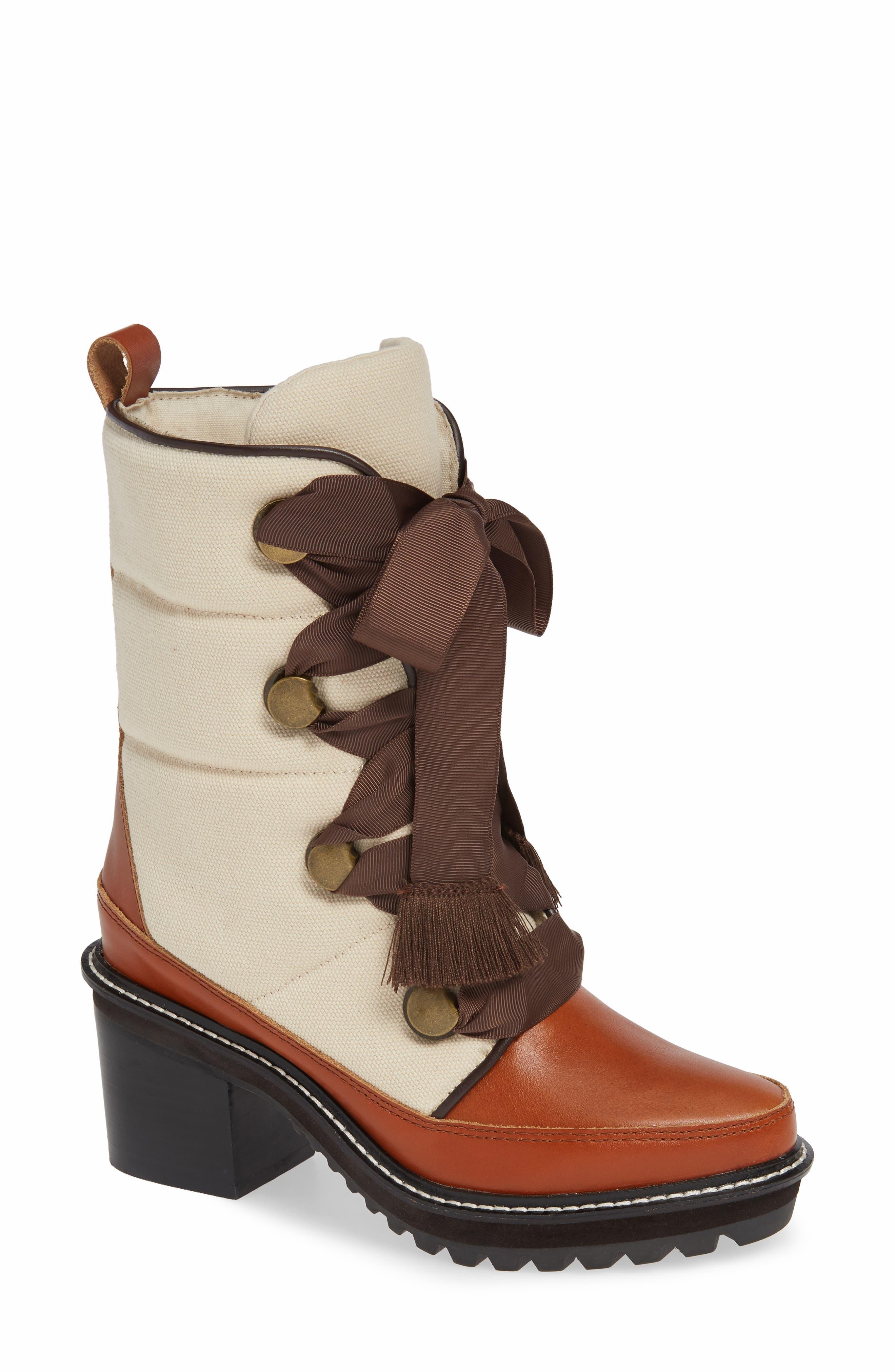 Kelsi Dagger Brooklyn Puffin Lug Sole Boot, Ivory