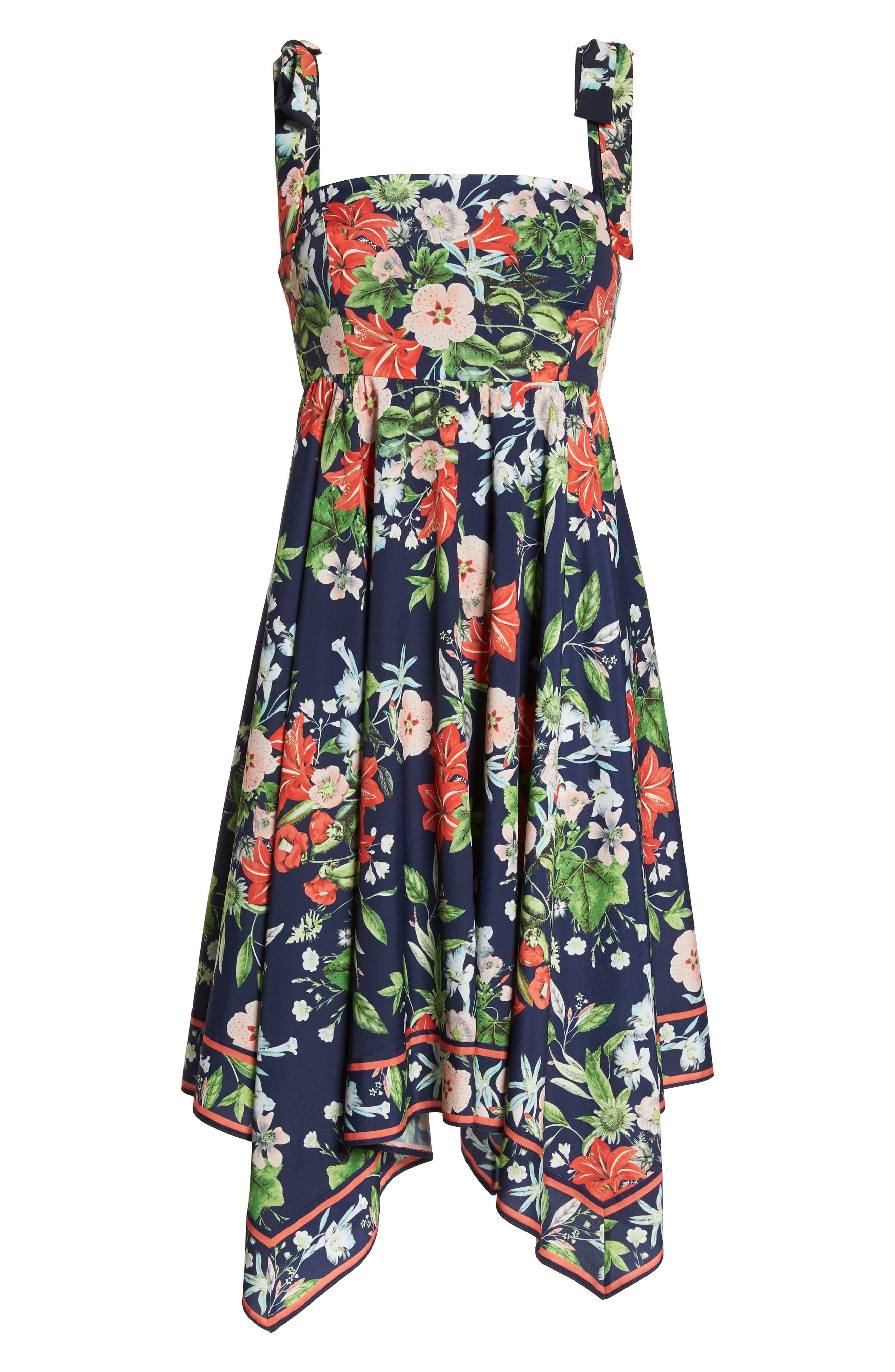ELIZA J,                             Tie Strap Handkerchief Hem Dress,                             Alternate thumbnail 7, color,                             410