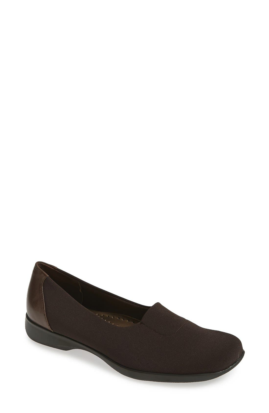 'Signature Jake' Slip On,                             Main thumbnail 1, color,                             DARK BROWN