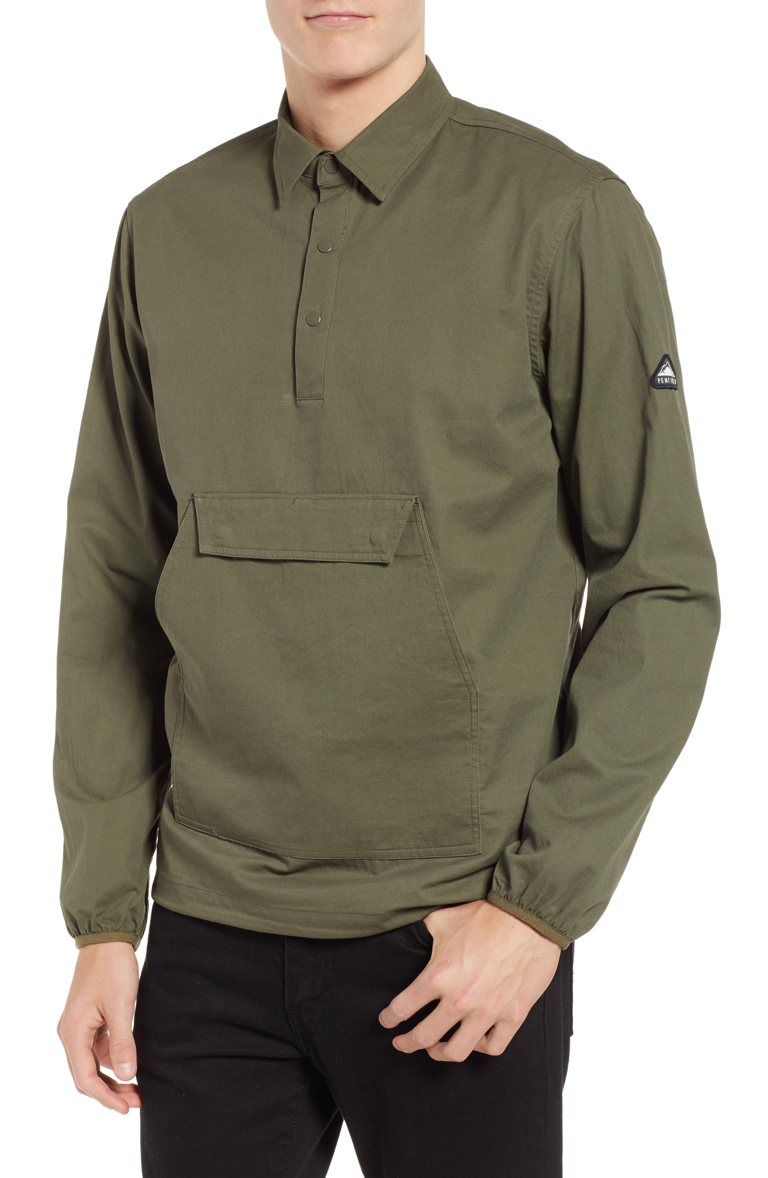 Adelanto Snap Pocket Shirt,                         Main,                         color, DARK OLIVE