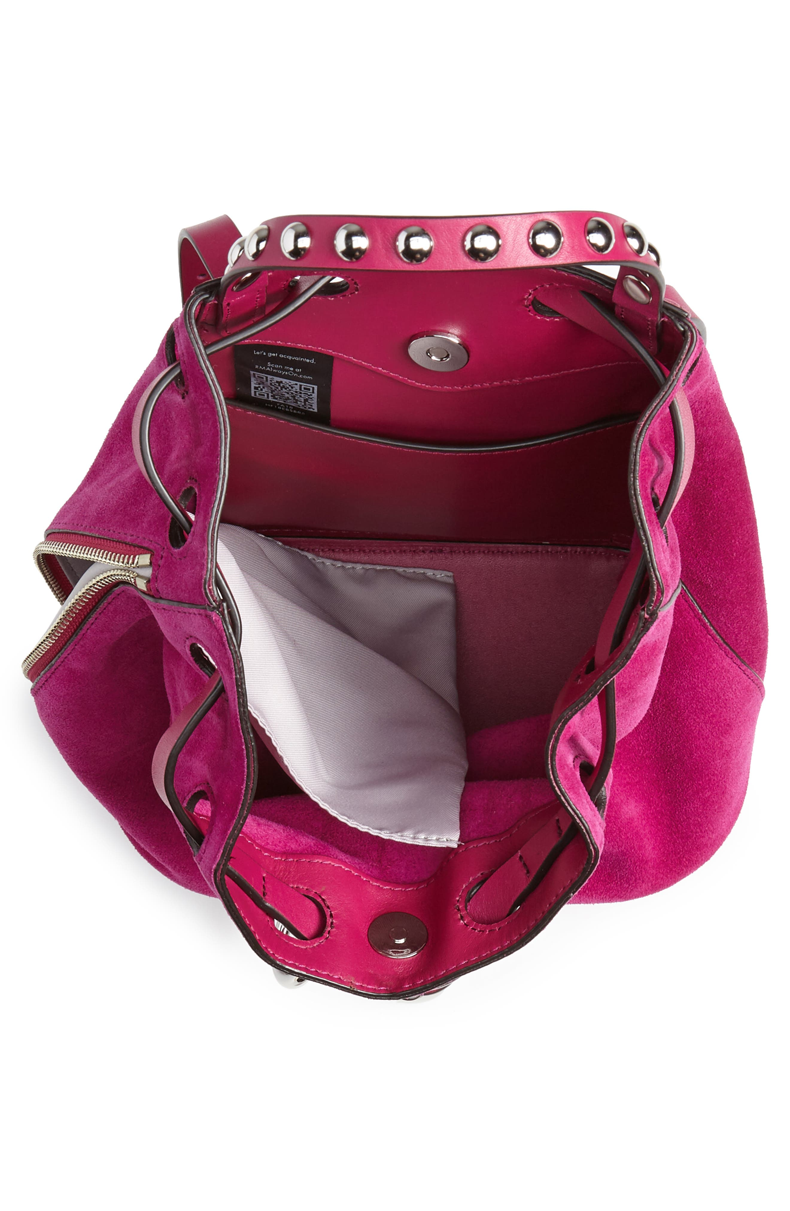 Small Blythe Leather Backpack,                             Alternate thumbnail 4, color,                             650