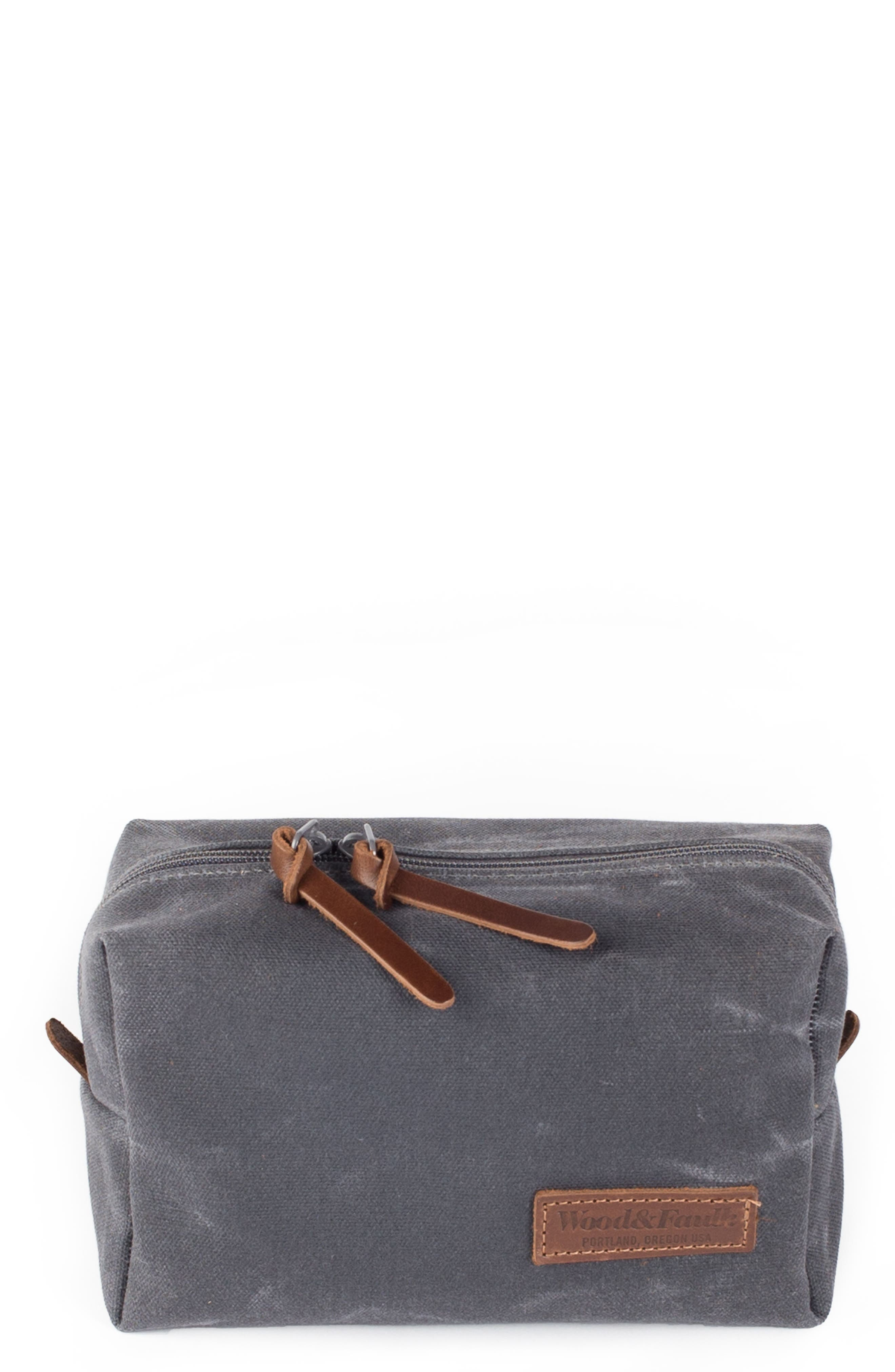 Traverse Waxed Canvas Dopp Kit,                             Main thumbnail 1, color,                             021
