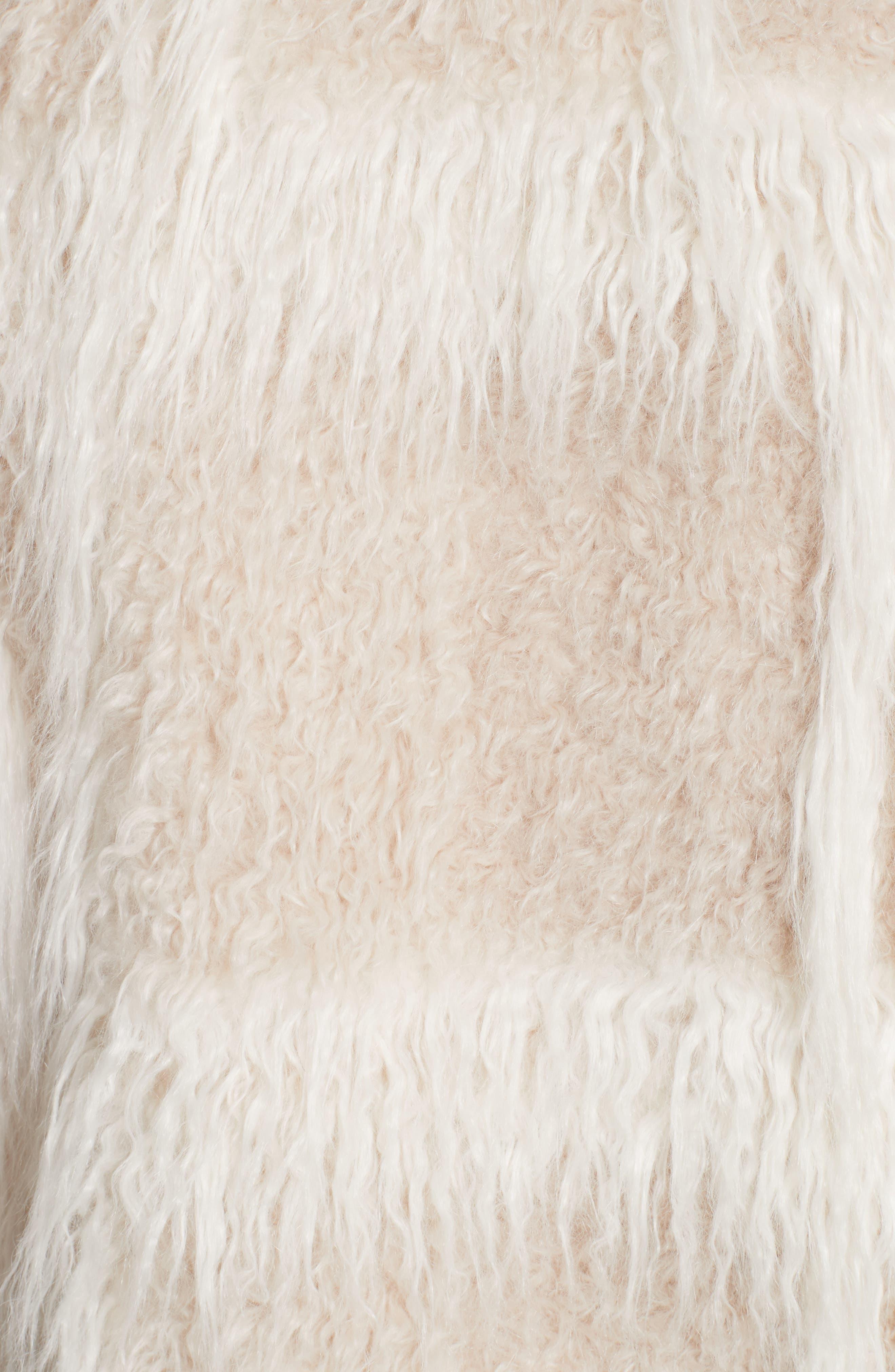 Faux Fur Jacket,                             Alternate thumbnail 5, color,                             194