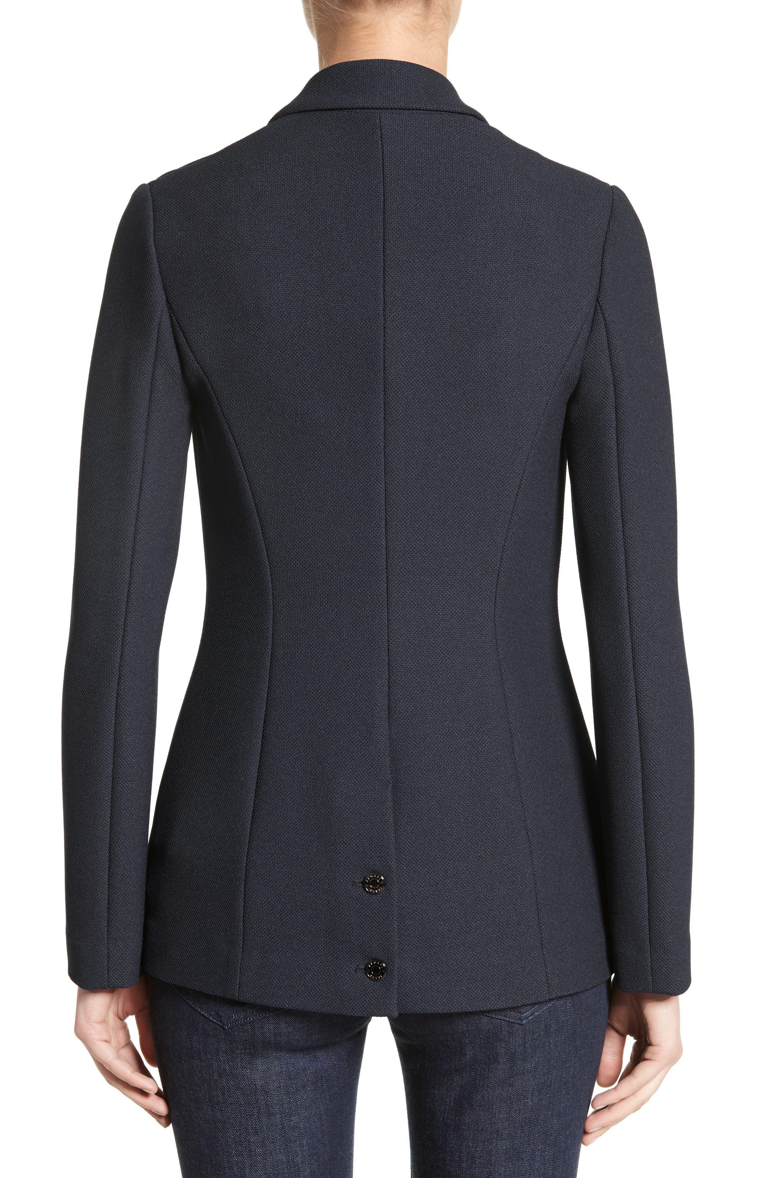 Armani Jeans Piqué Double Breasted Blazer,                             Alternate thumbnail 2, color,                             484