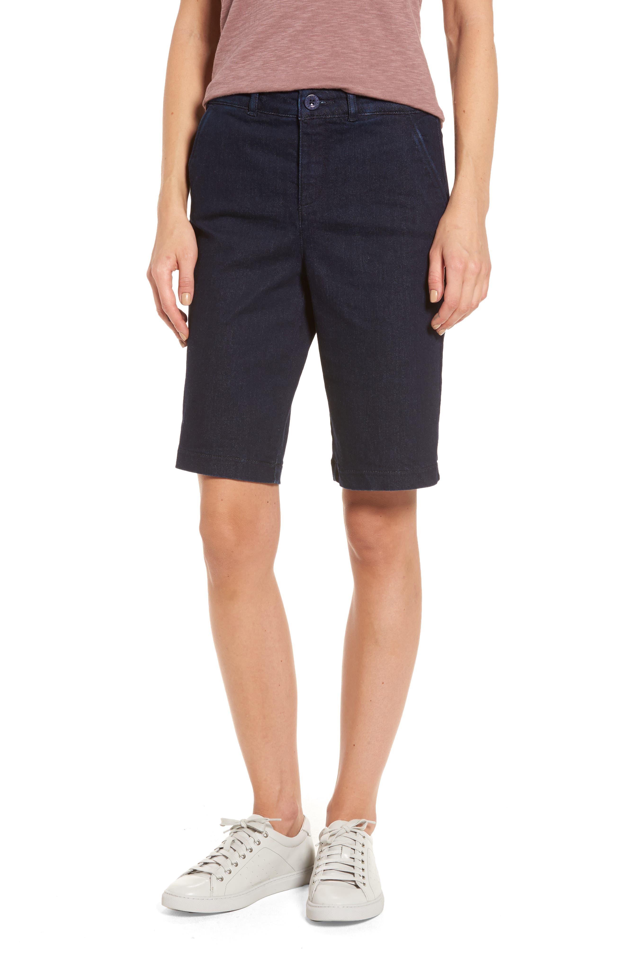 Marilyn Stretch Denim Bermuda Shorts,                         Main,                         color, RINSE