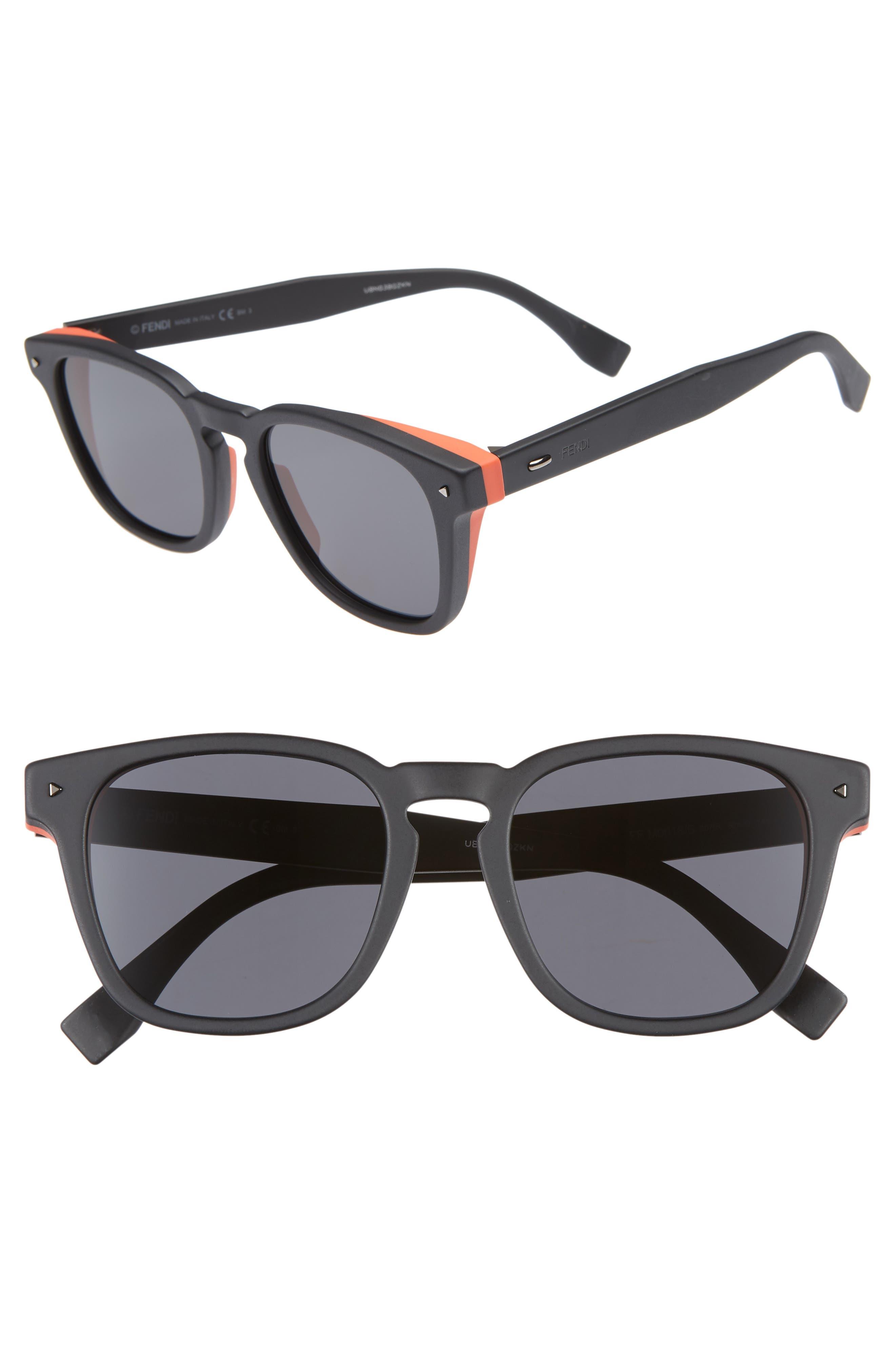 52mm Sunglasses,                         Main,                         color, BLACK