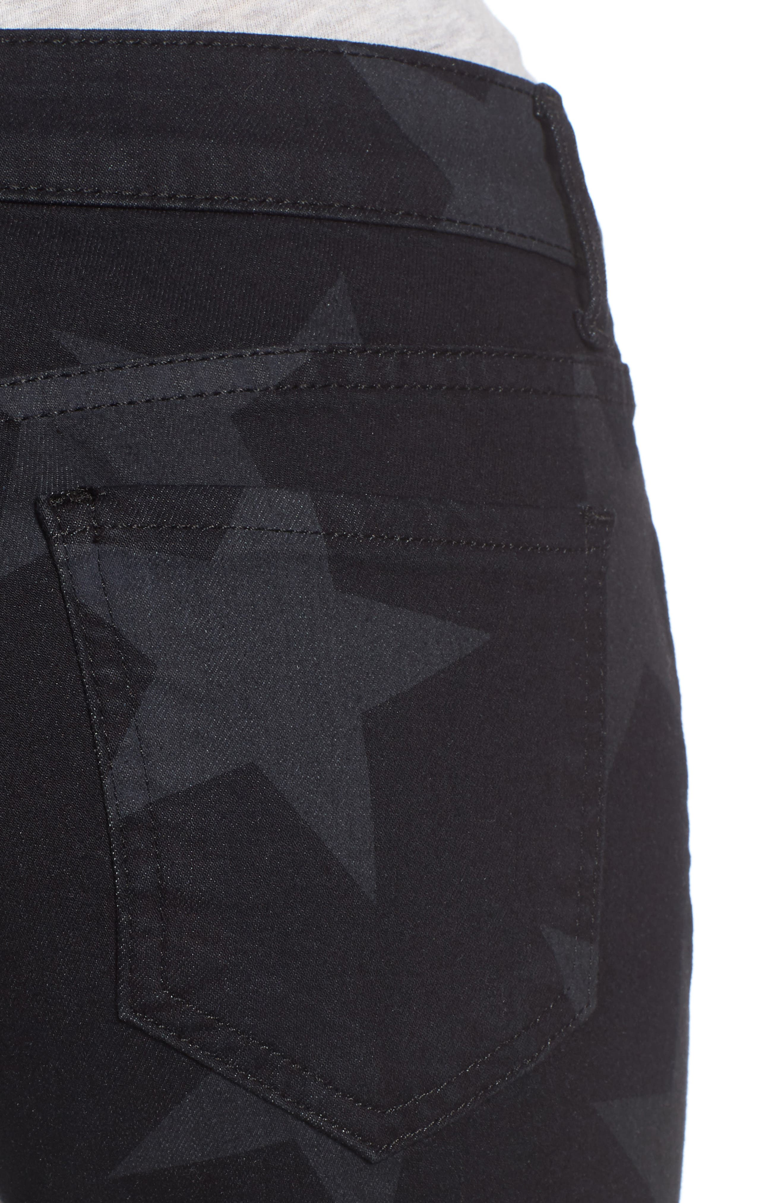 Mia Star Print Skinny Jeans,                             Alternate thumbnail 4, color,                             472