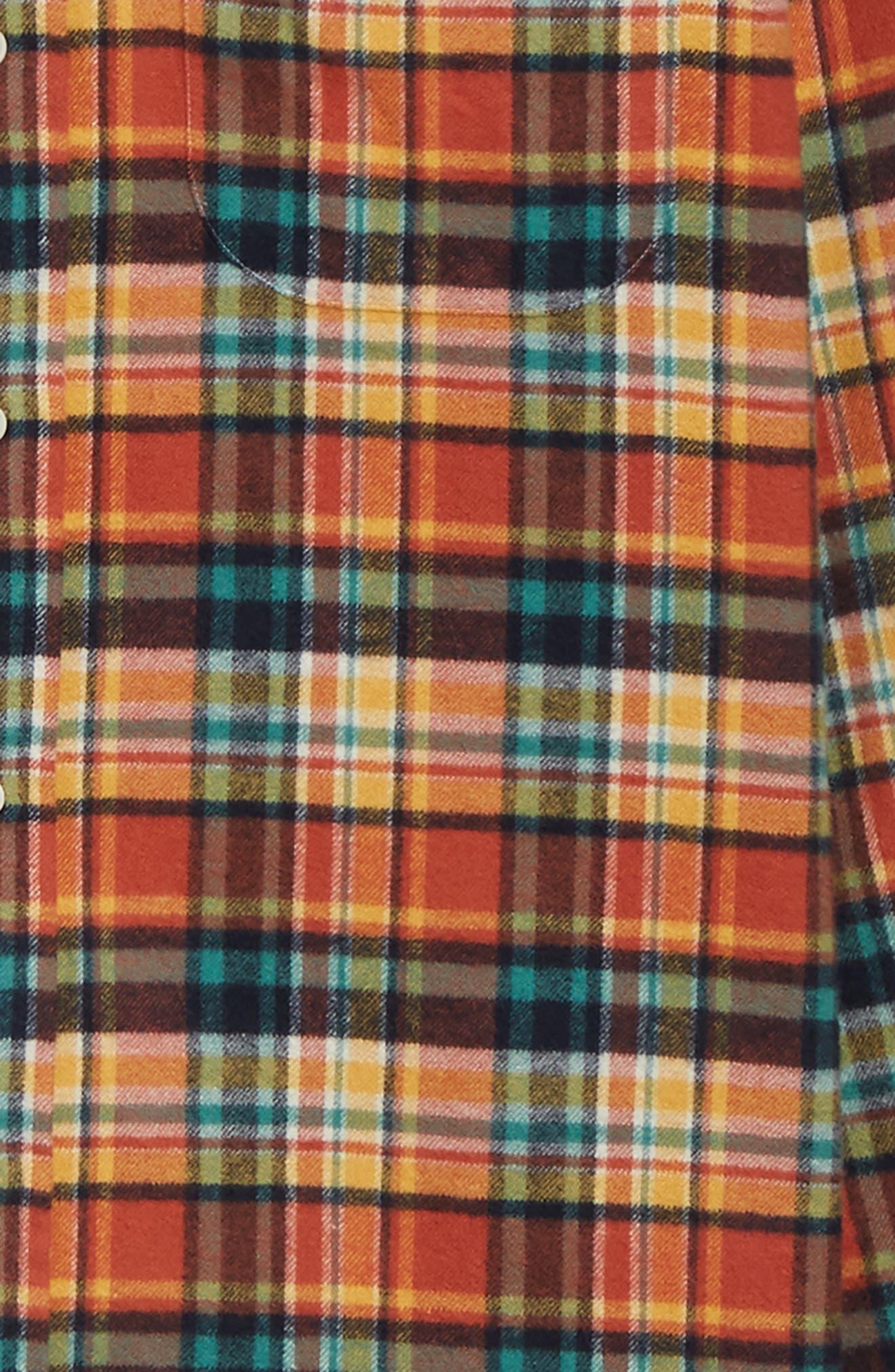 Regular Fit Flannel Shirt,                             Alternate thumbnail 6, color,                             800