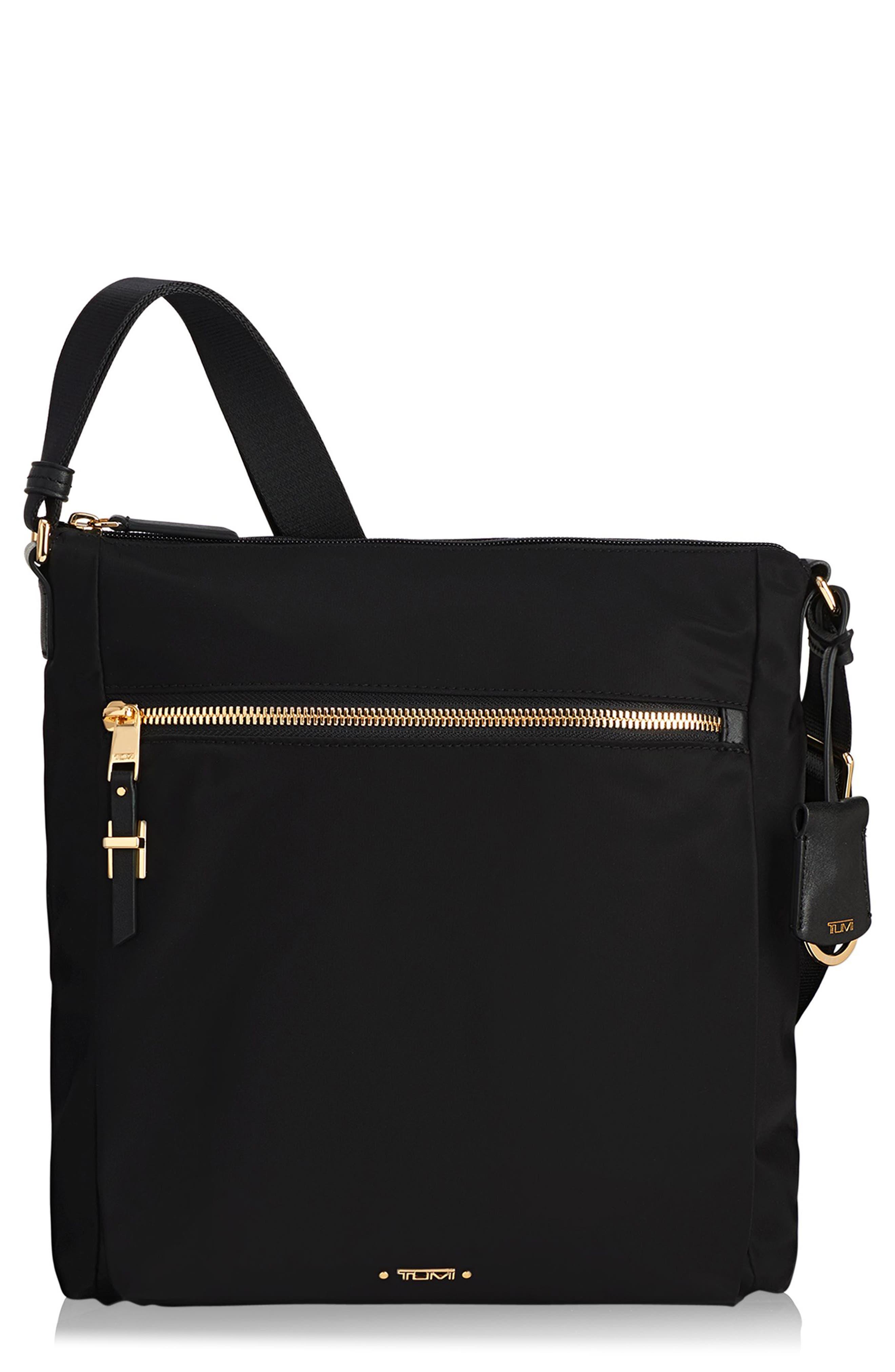 Voyageur - Canton Nylon Crossbody Bag,                         Main,                         color, BLACK