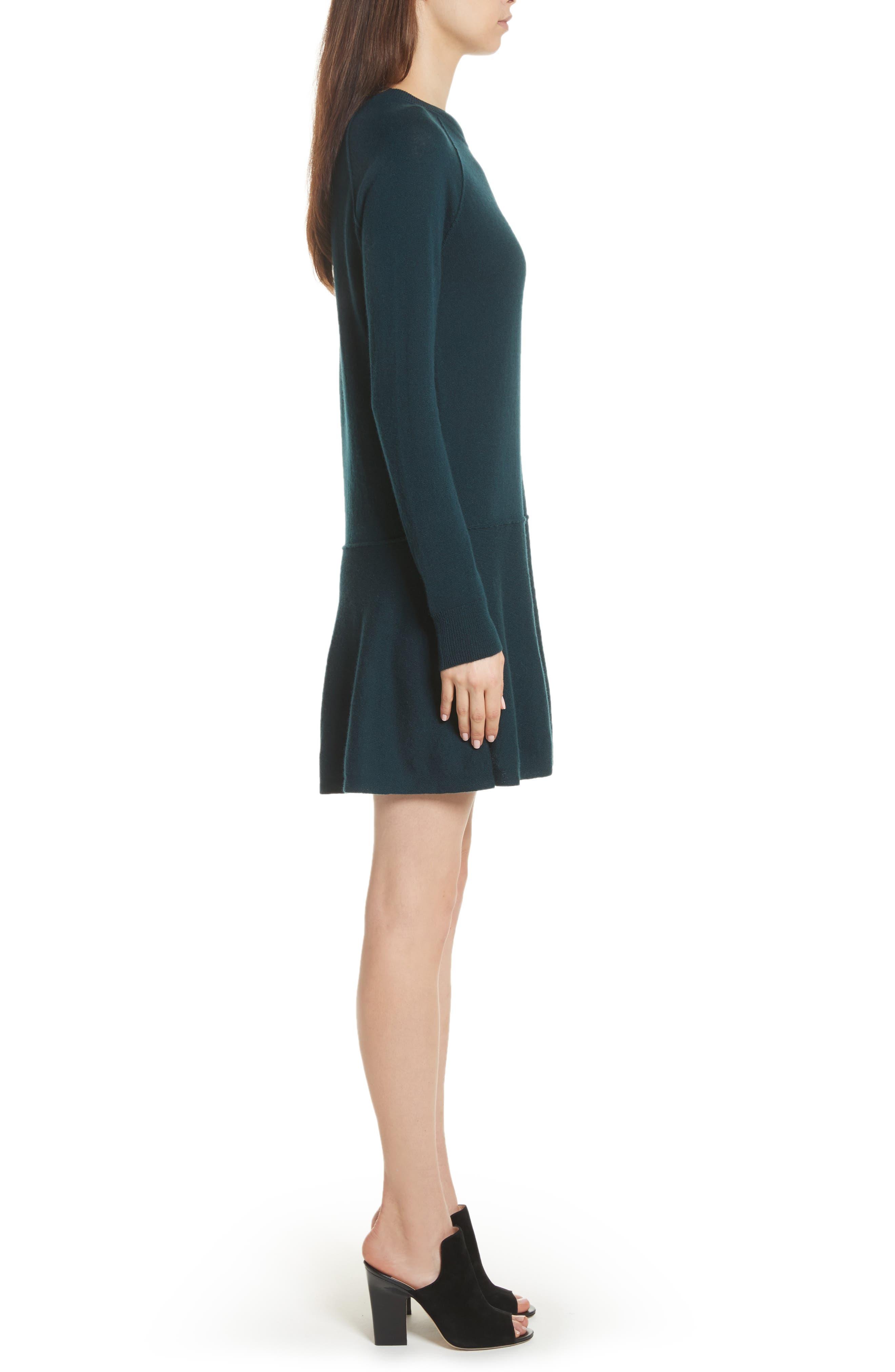 Cashmere Drop Waist Sweater Dress,                             Alternate thumbnail 6, color,