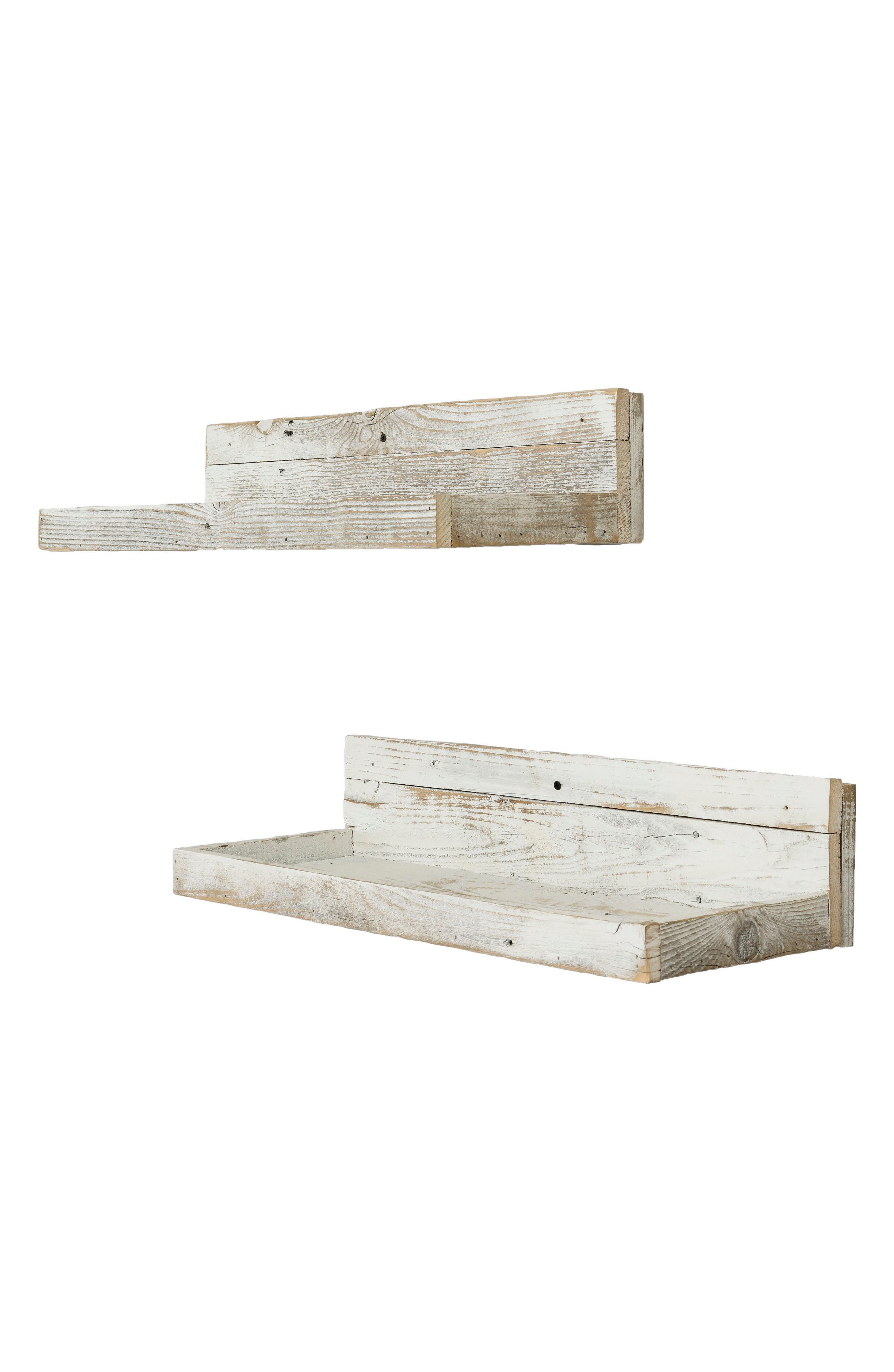 Set of 2 Reclaimed Wood Floating Shelves,                             Alternate thumbnail 2, color,