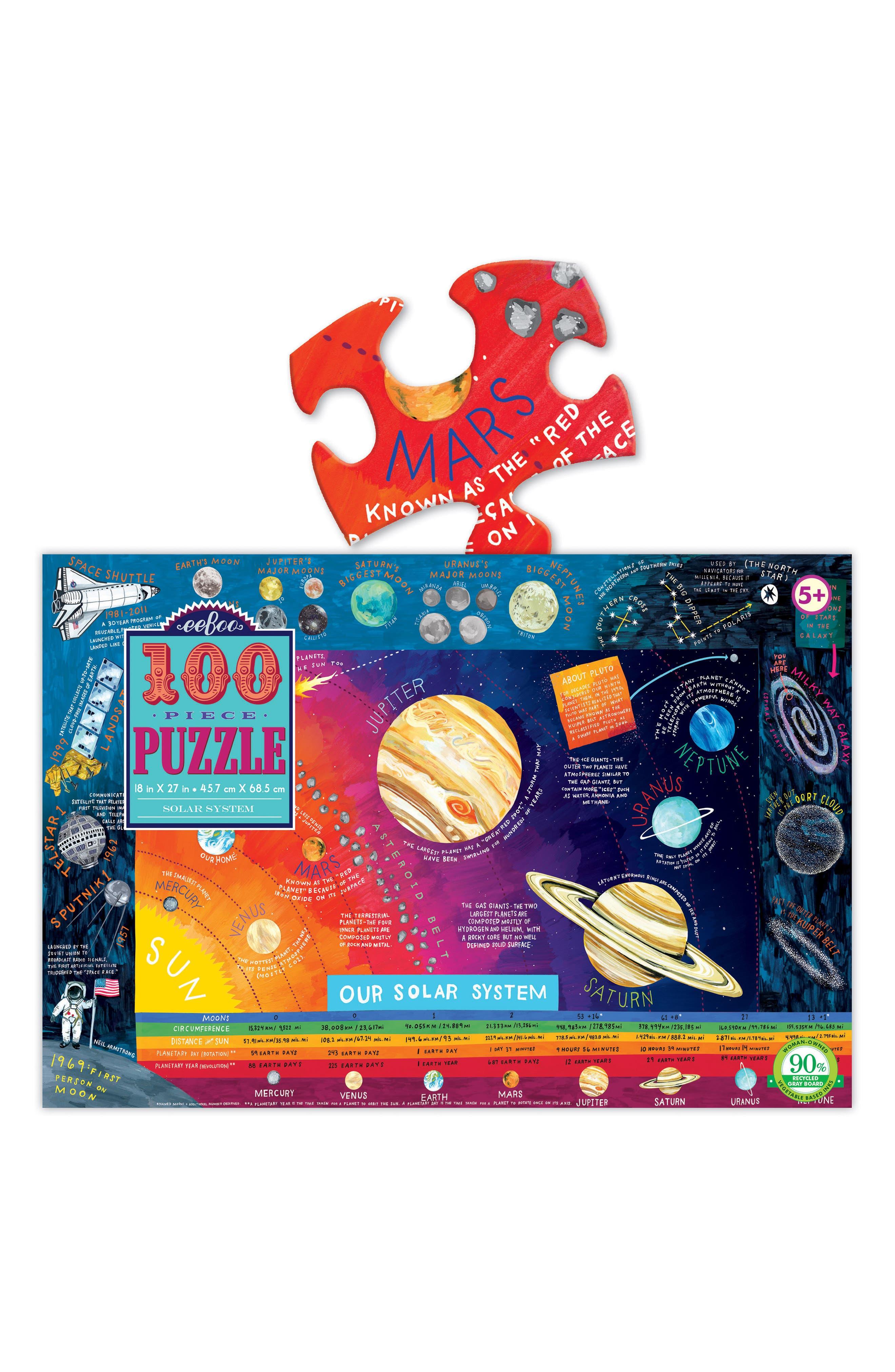 Solar System 100-Piece Puzzle,                             Alternate thumbnail 2, color,                             400