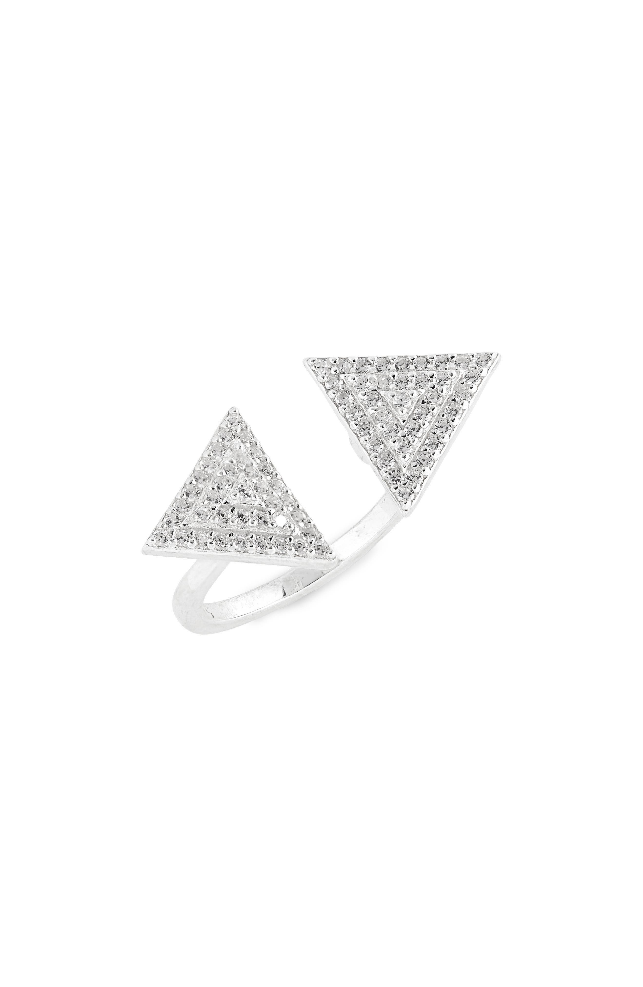 Crystal Open Ring,                             Main thumbnail 1, color,                             042