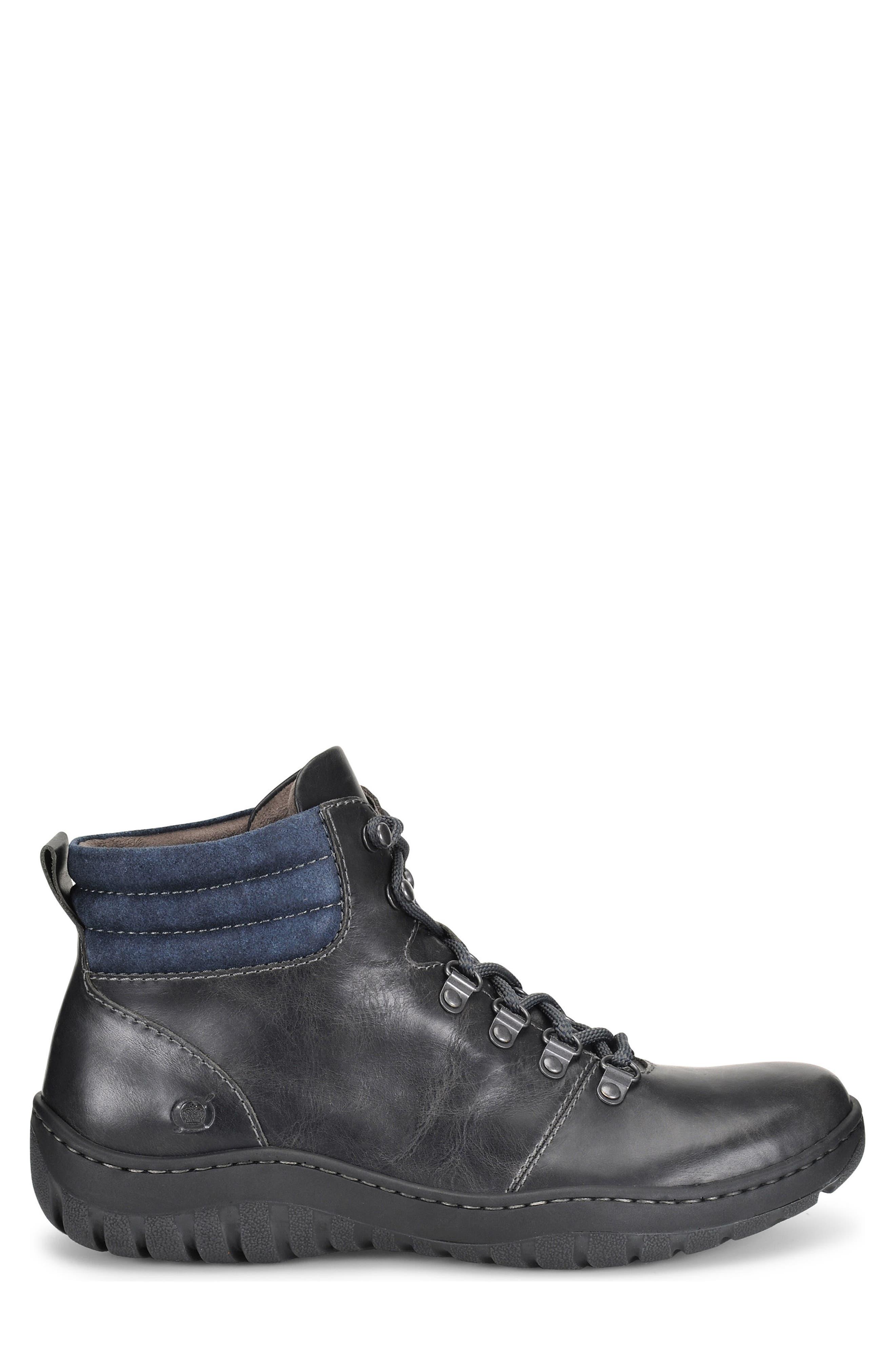 Dutchman Plain Toe Boot,                             Alternate thumbnail 3, color,                             DARK GREY/ BLUE