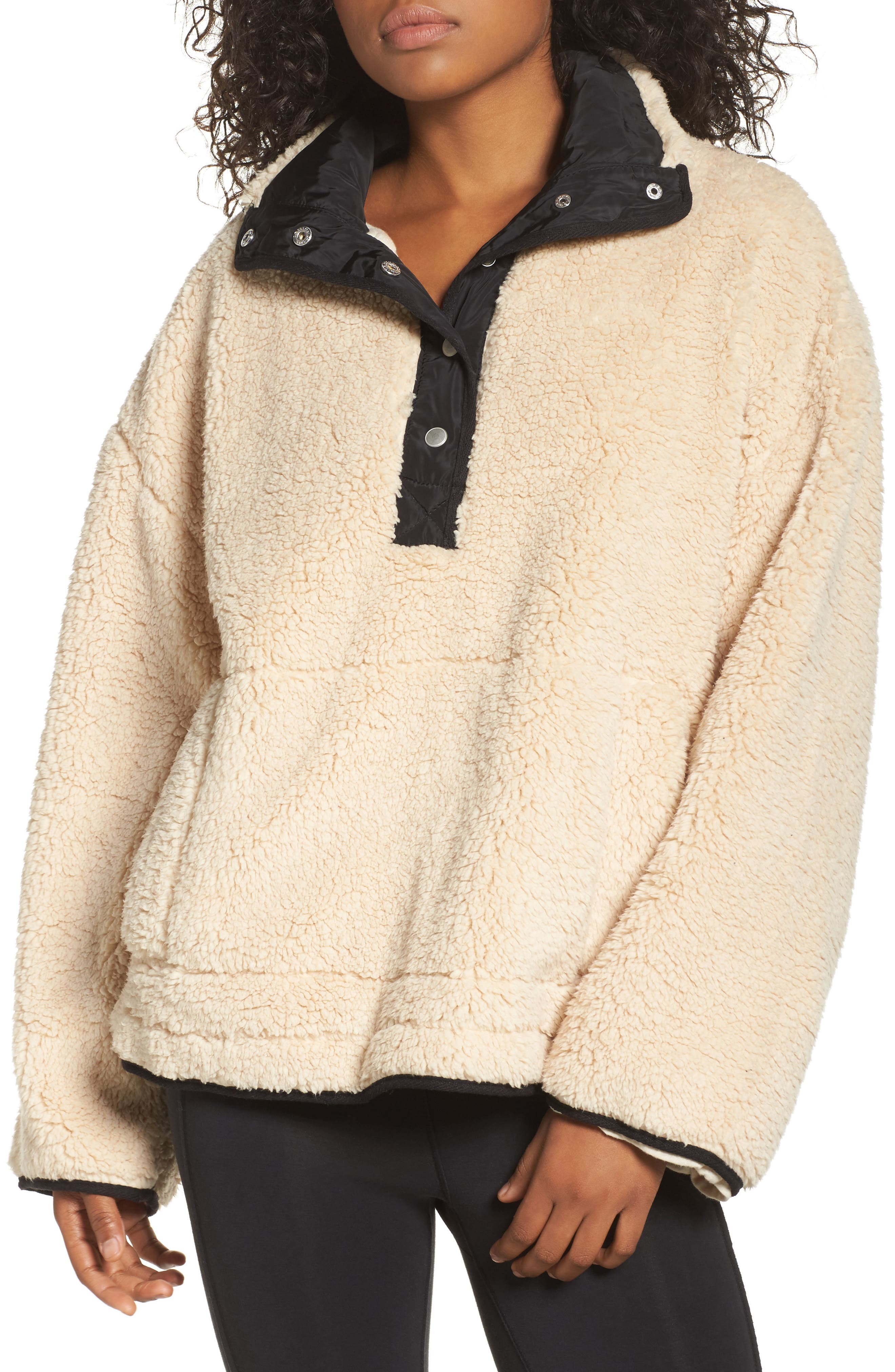 Free People Oh So Cozy Fleece Pullover,                             Main thumbnail 2, color,