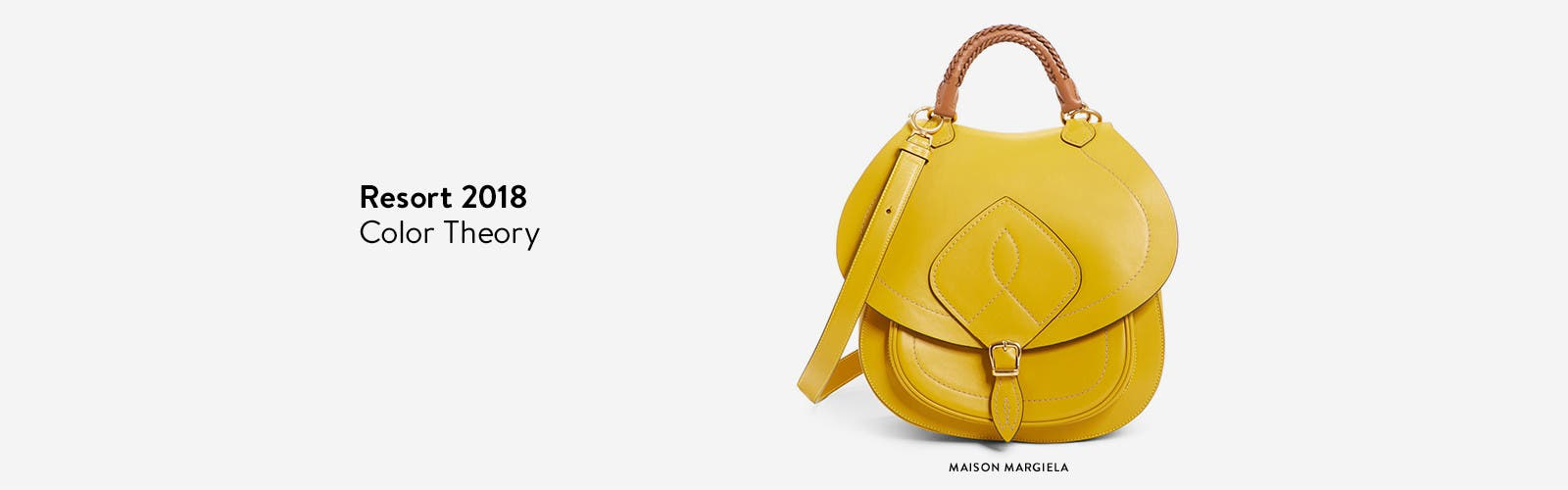 Designer resort 2018 collections to explore now: Maison Margiela top-handle saddle bag.