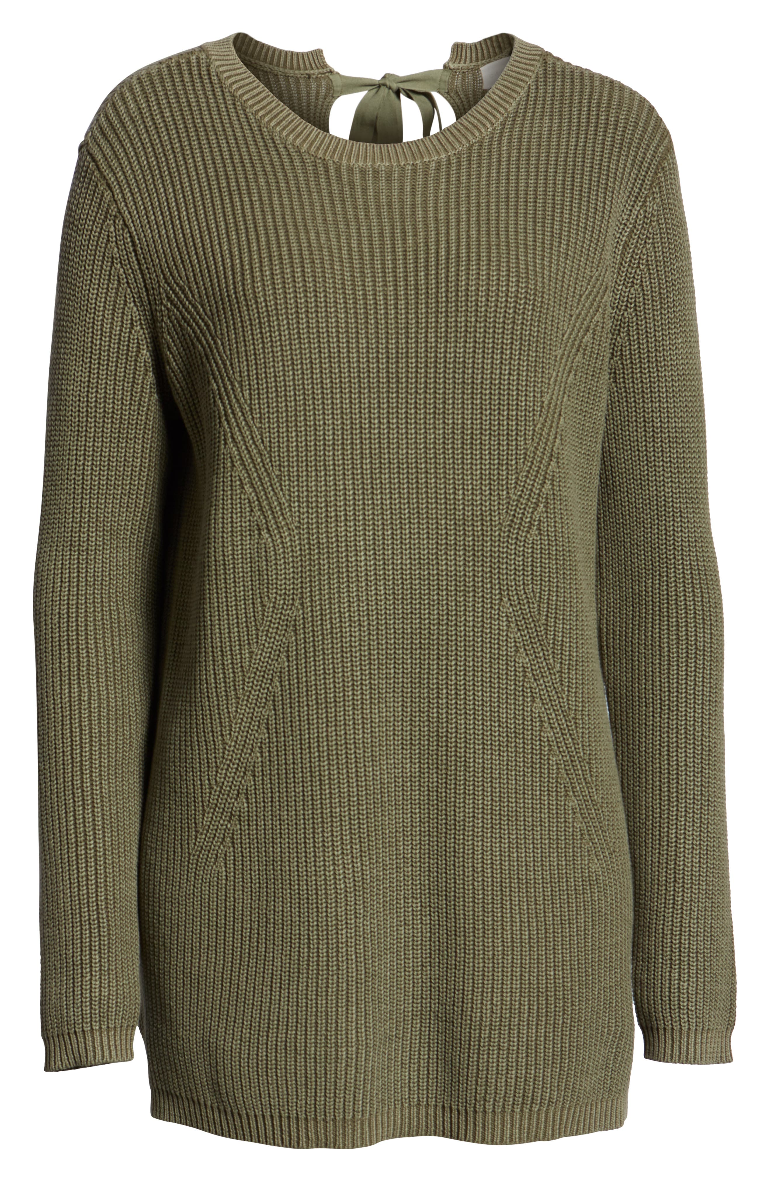 Tie Back Tunic Sweater,                             Alternate thumbnail 6, color,                             301