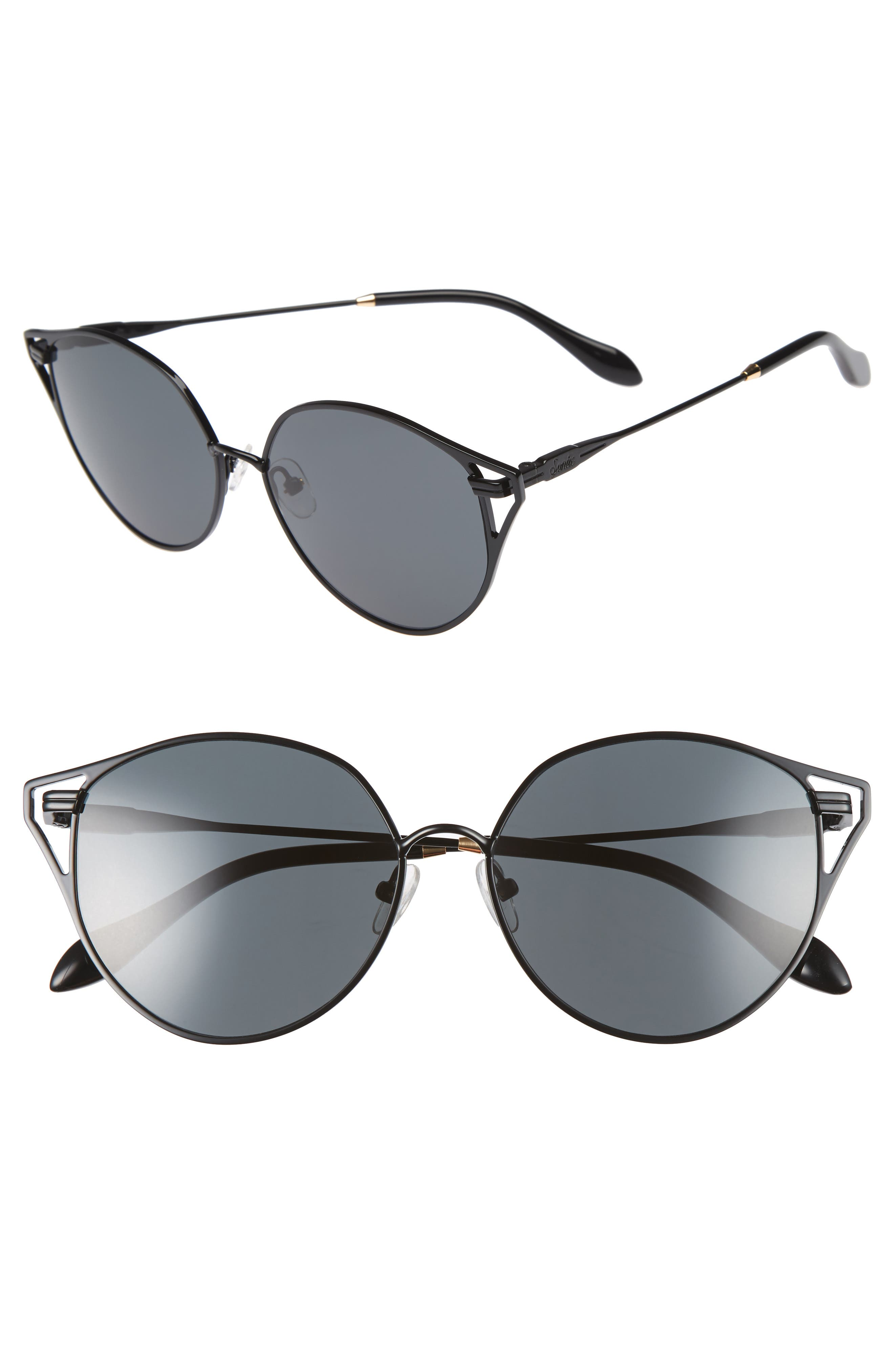 Ibiza 55mm Cat Eye Sunglasses,                             Main thumbnail 1, color,