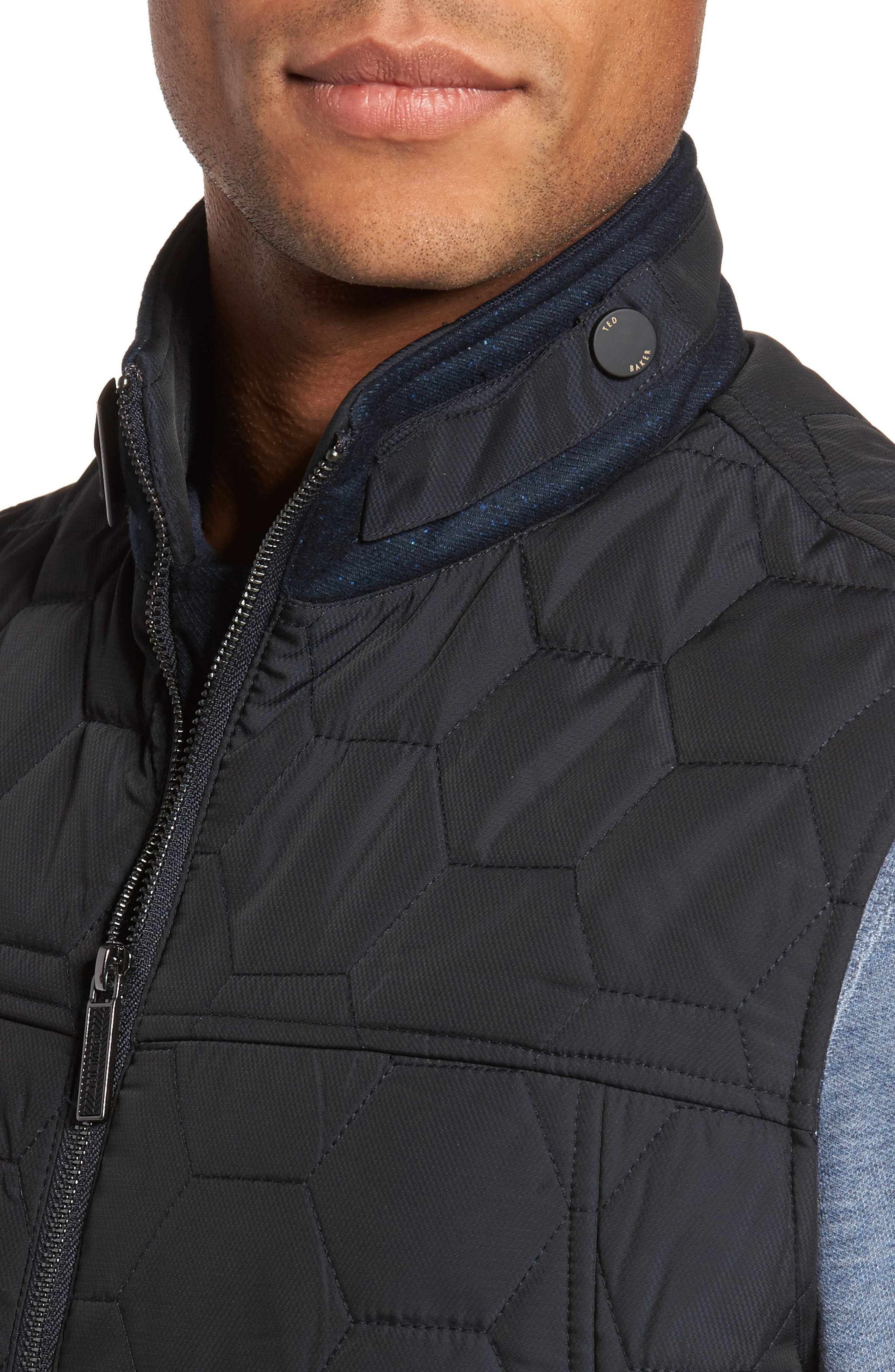 Ferny Quilted Vest,                             Alternate thumbnail 4, color,
