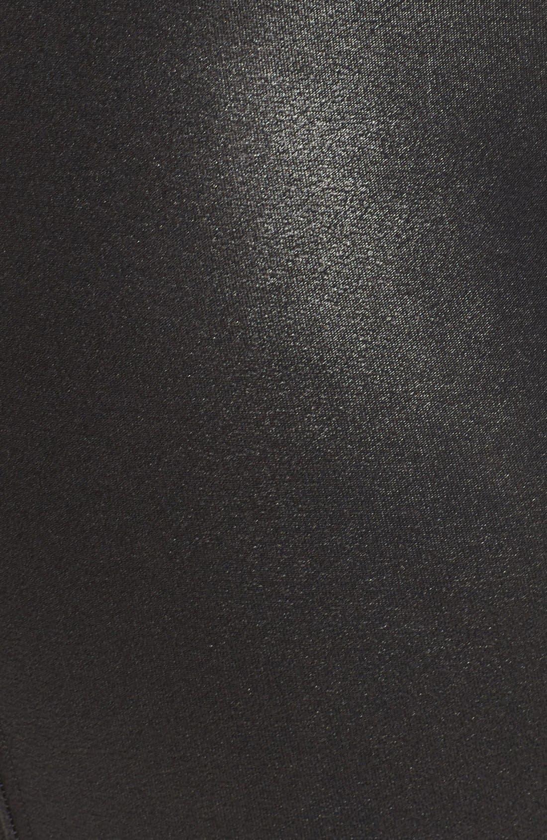 Faux Leather Leggings,                             Alternate thumbnail 9, color,                             BLACK