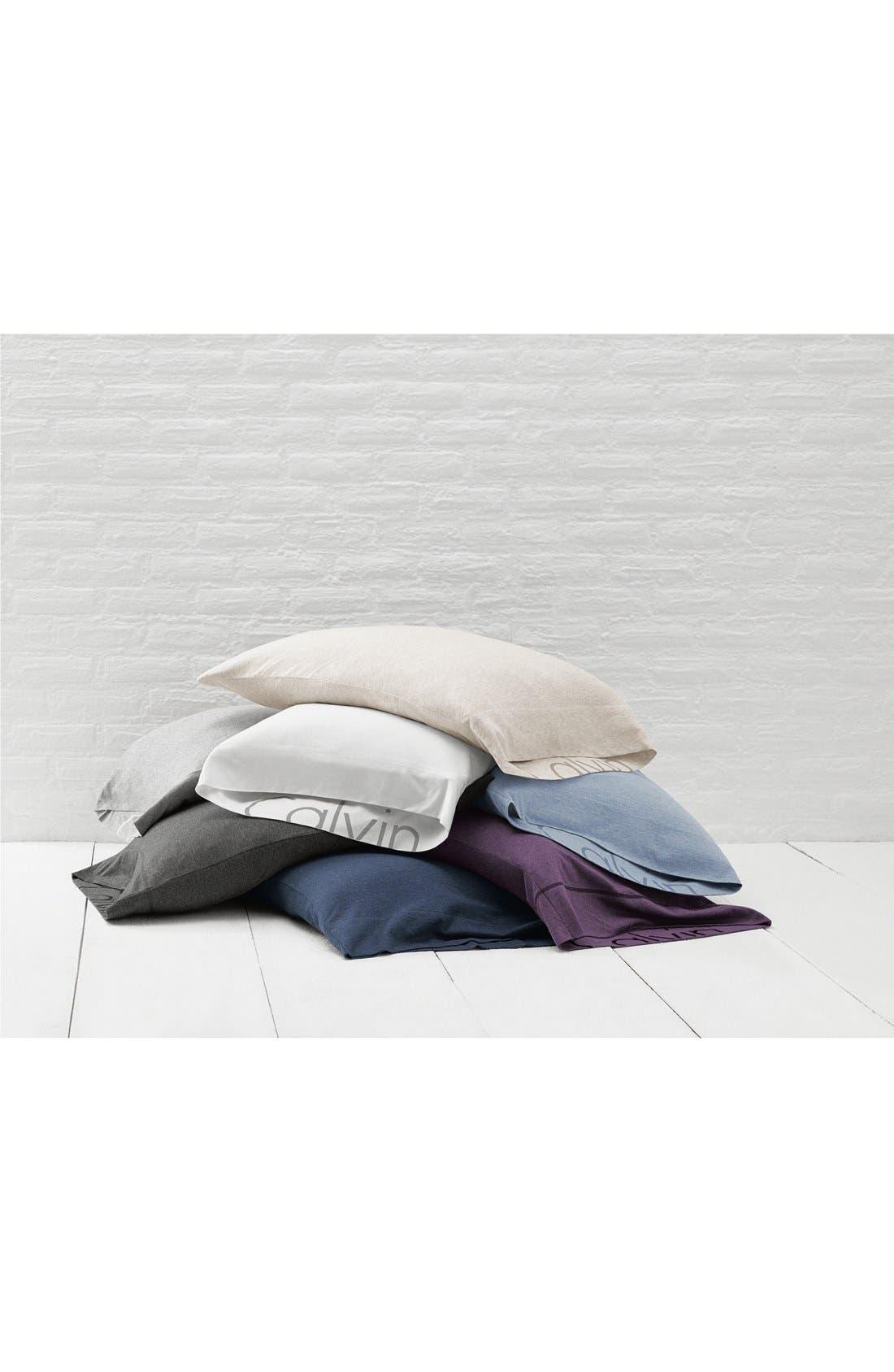 Modern Cotton Collection Cotton & Modal Pillowcases,                             Alternate thumbnail 5, color,                             GREY
