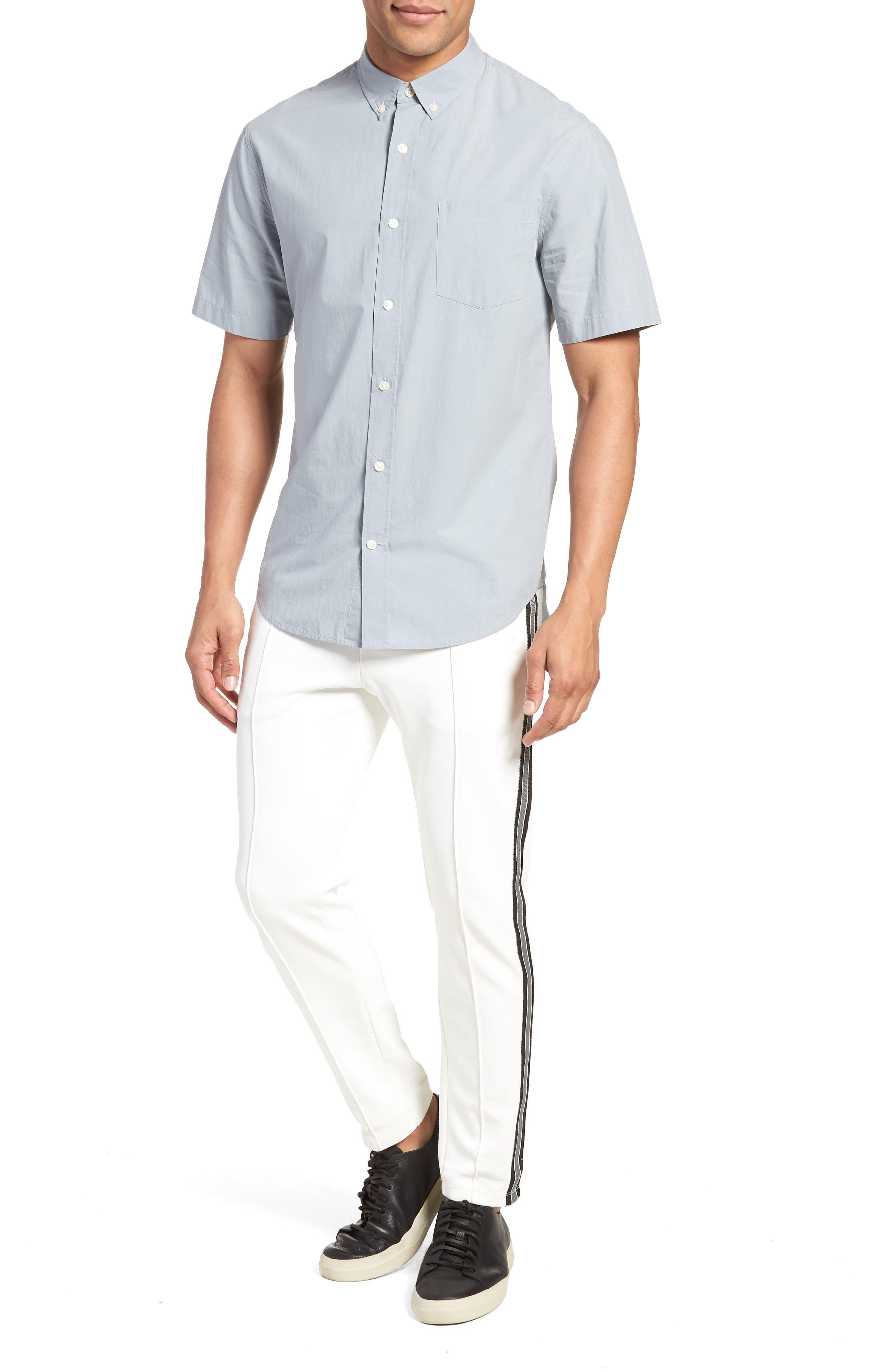 Slim Fit Sport Shirt,                             Alternate thumbnail 7, color,                             STORM